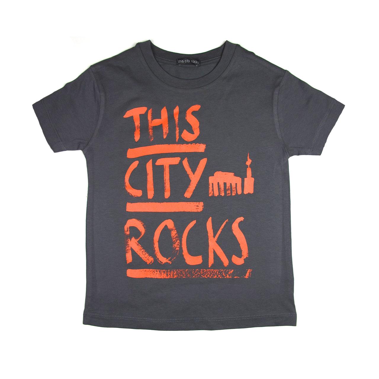 Berlin T-Shirt THIS CITY ROCKS grau/rot