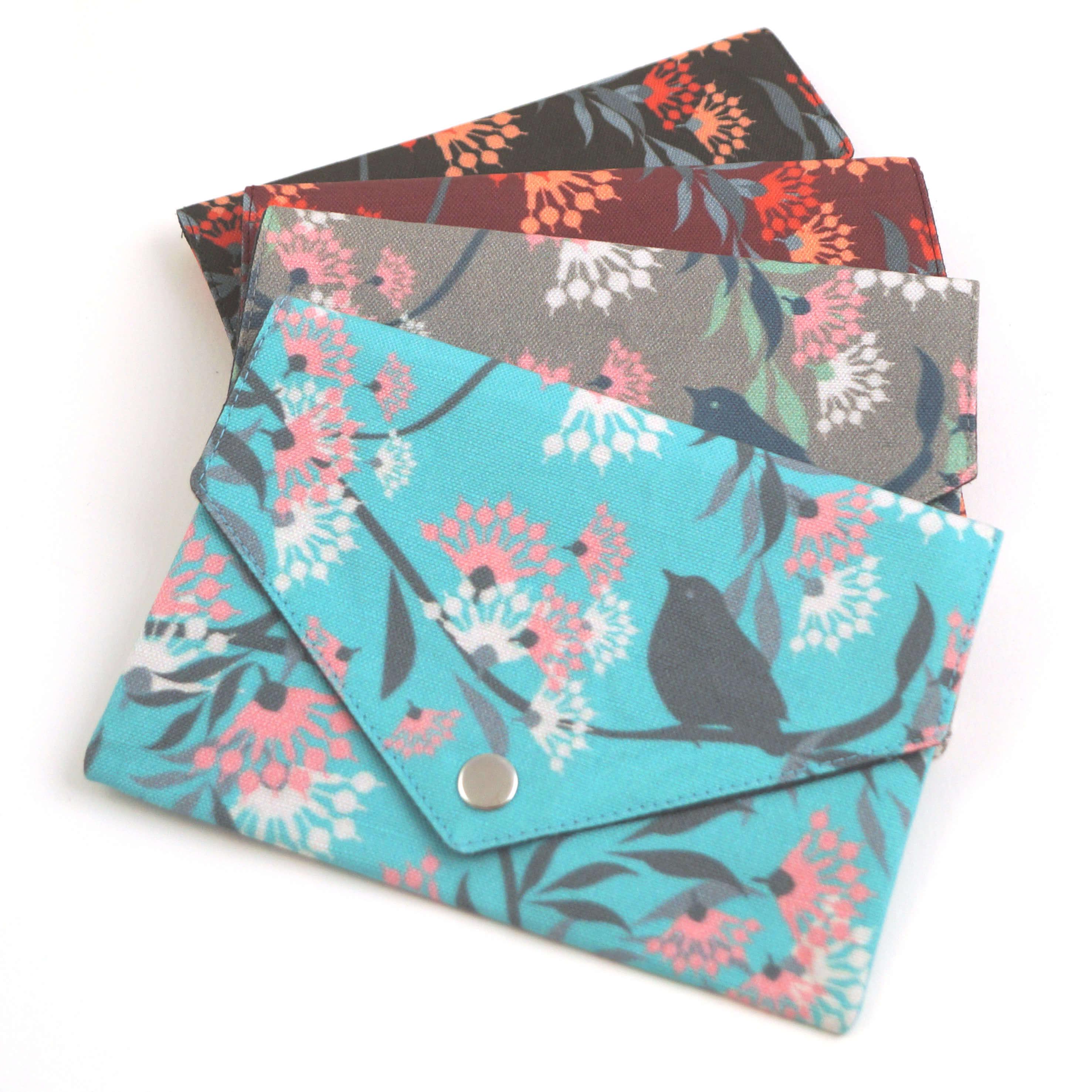 Geldbörse mit Reißverschluss Tasche Blumen bordeaux