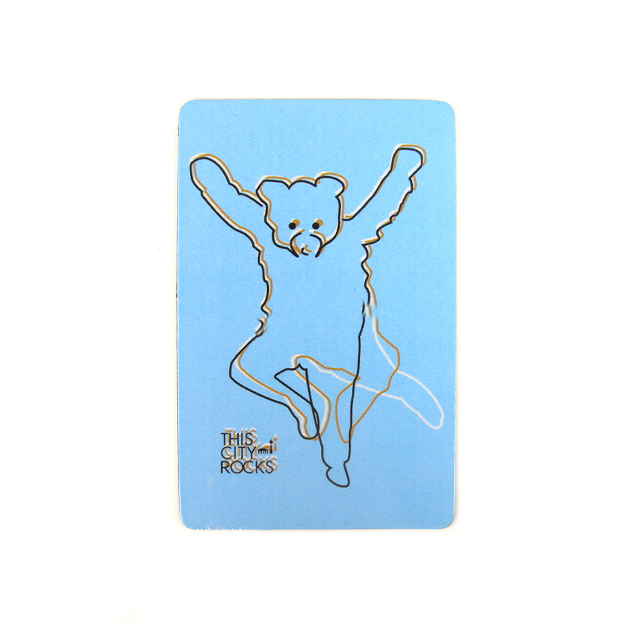 Berlinmagnet tanzender Bär blau