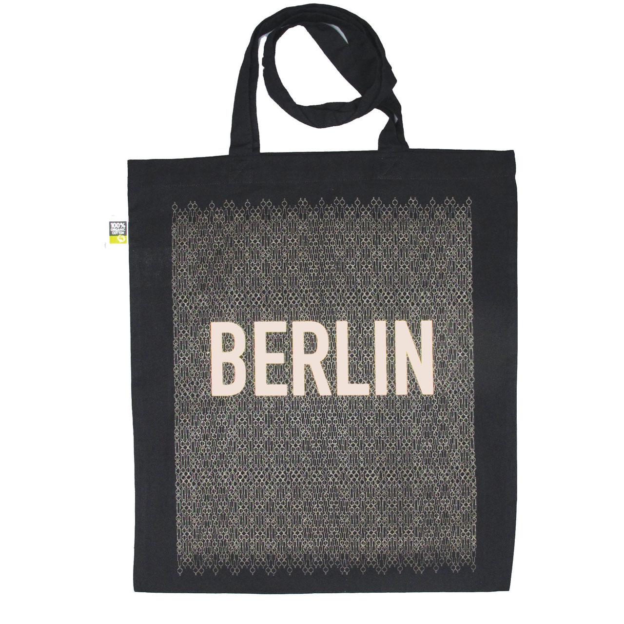 Berlin Jutebeutel Fernsehturm schwarz/gold