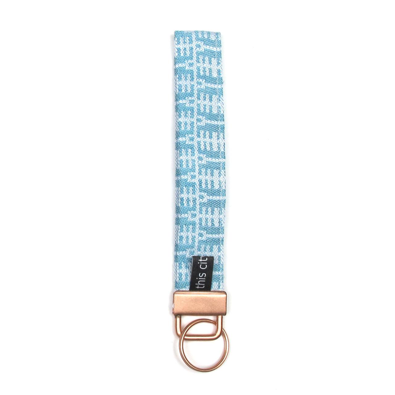 Schlüsselanhänger mit Schlaufe mint/kupfer