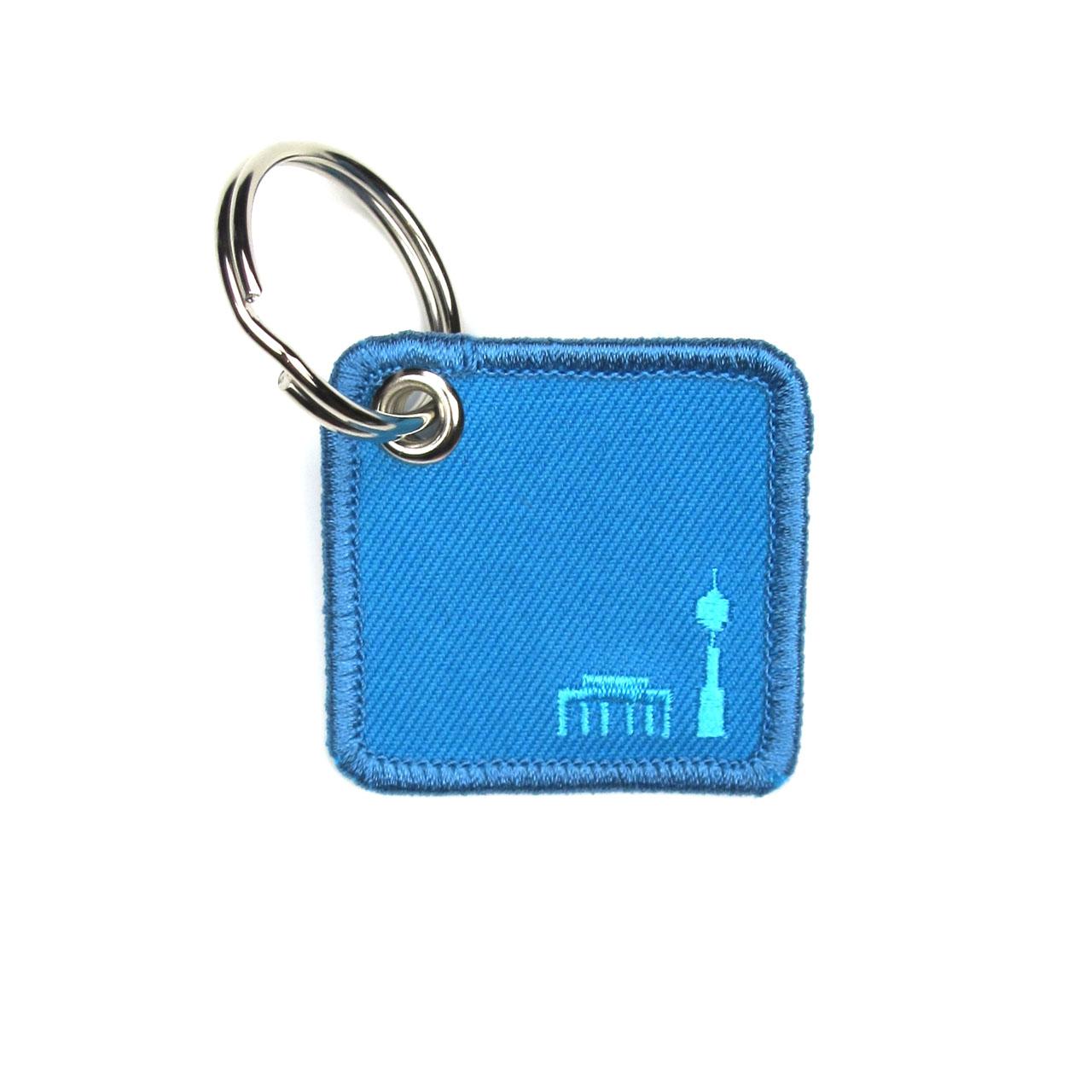 Schlüsselanhänger Berlin in blau