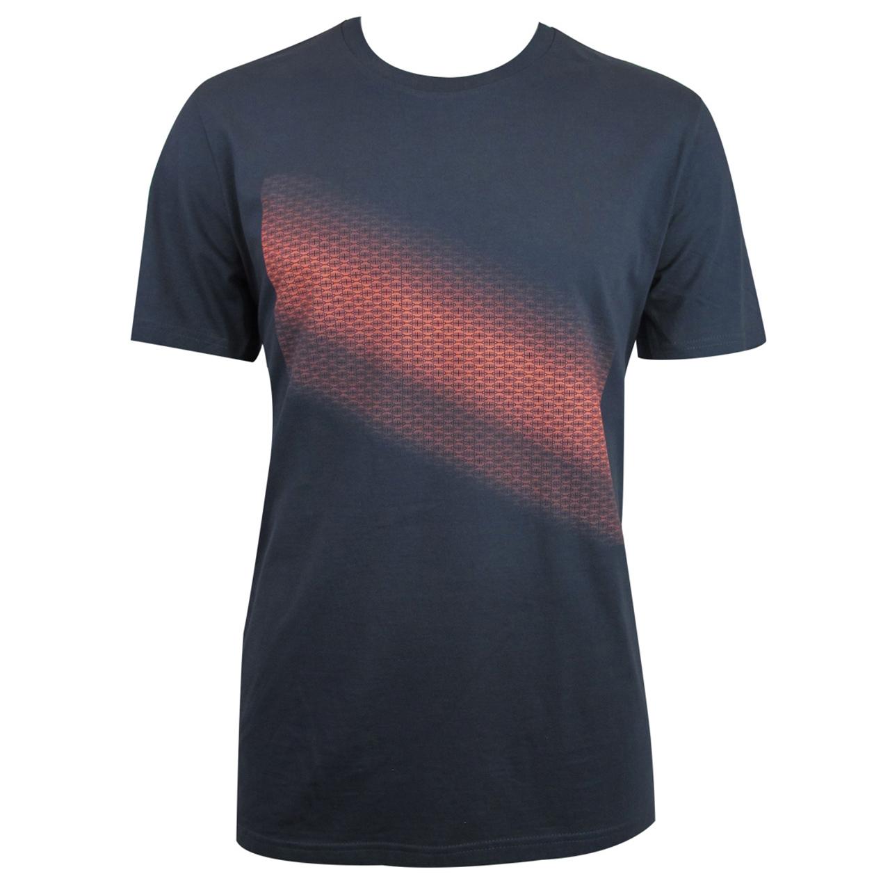 Berlin T-Shirt mit Farbverlauf Brandenburger Tor Diagonal grau/neonorange