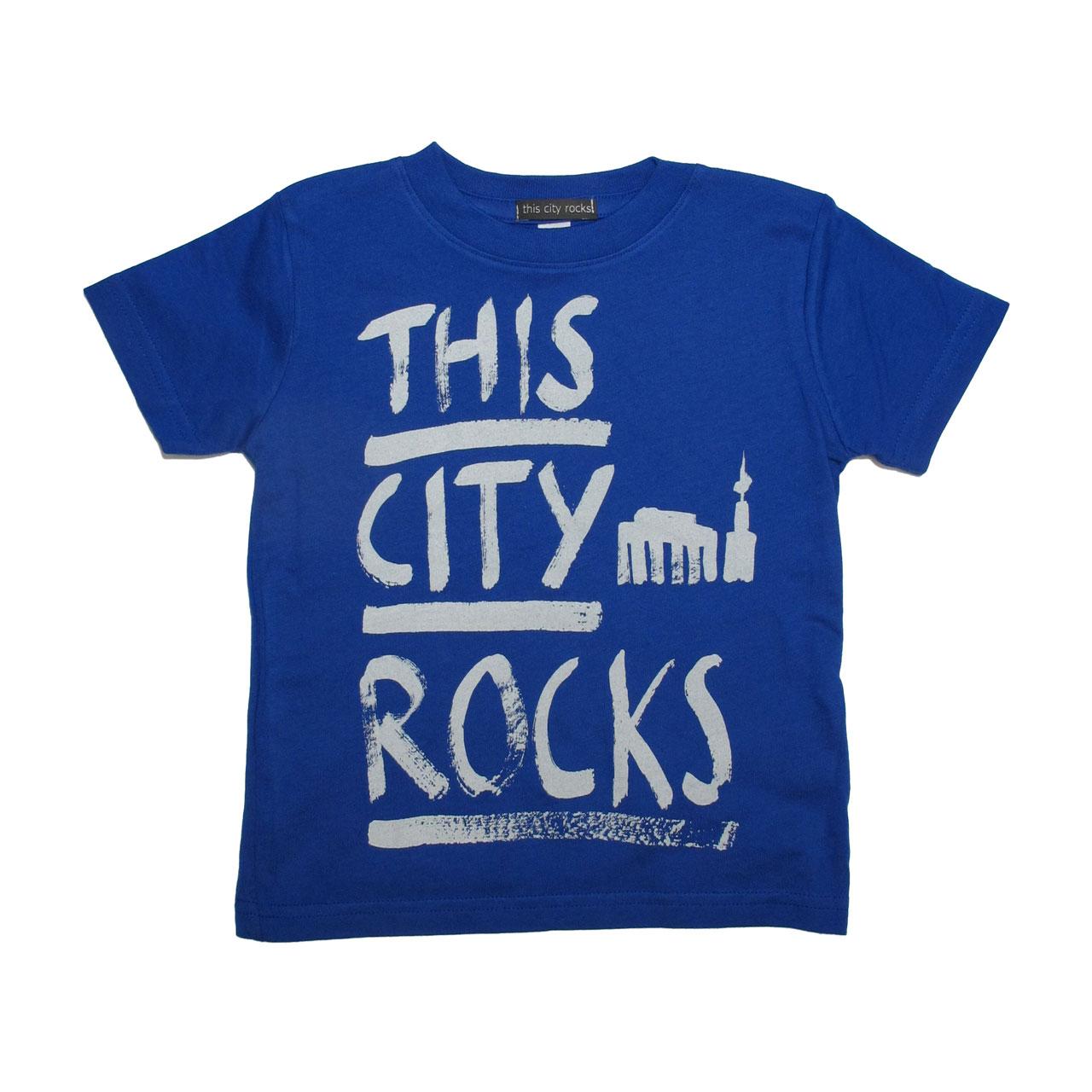 Berlin T-Shirt THIS CITY ROCKS blau/creme