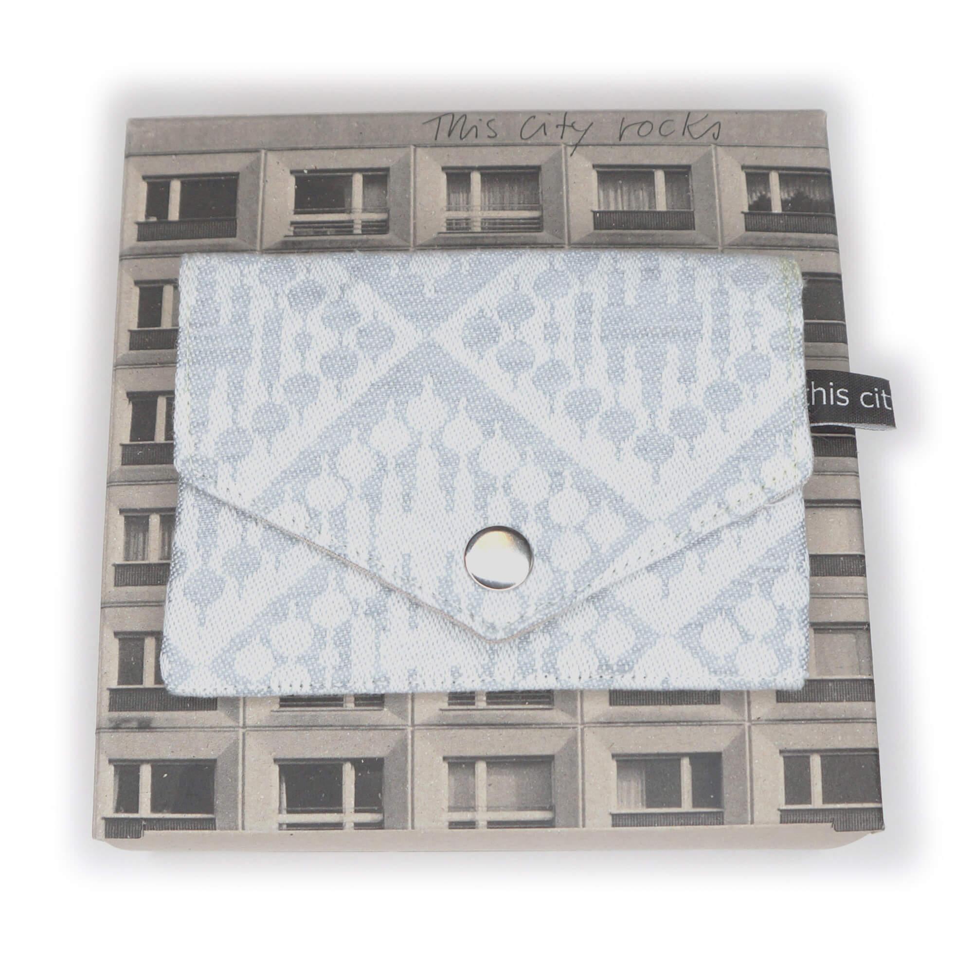 Kleine Geldbörse mit Reißverschluss Tasche FT h-grau