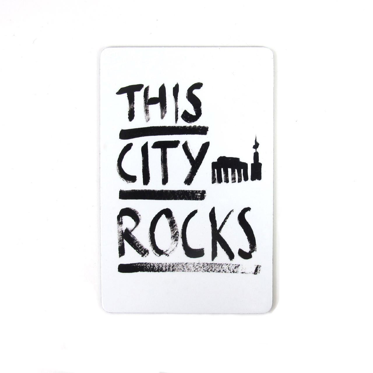 Berlinmagnet This City Rocks groß weiß