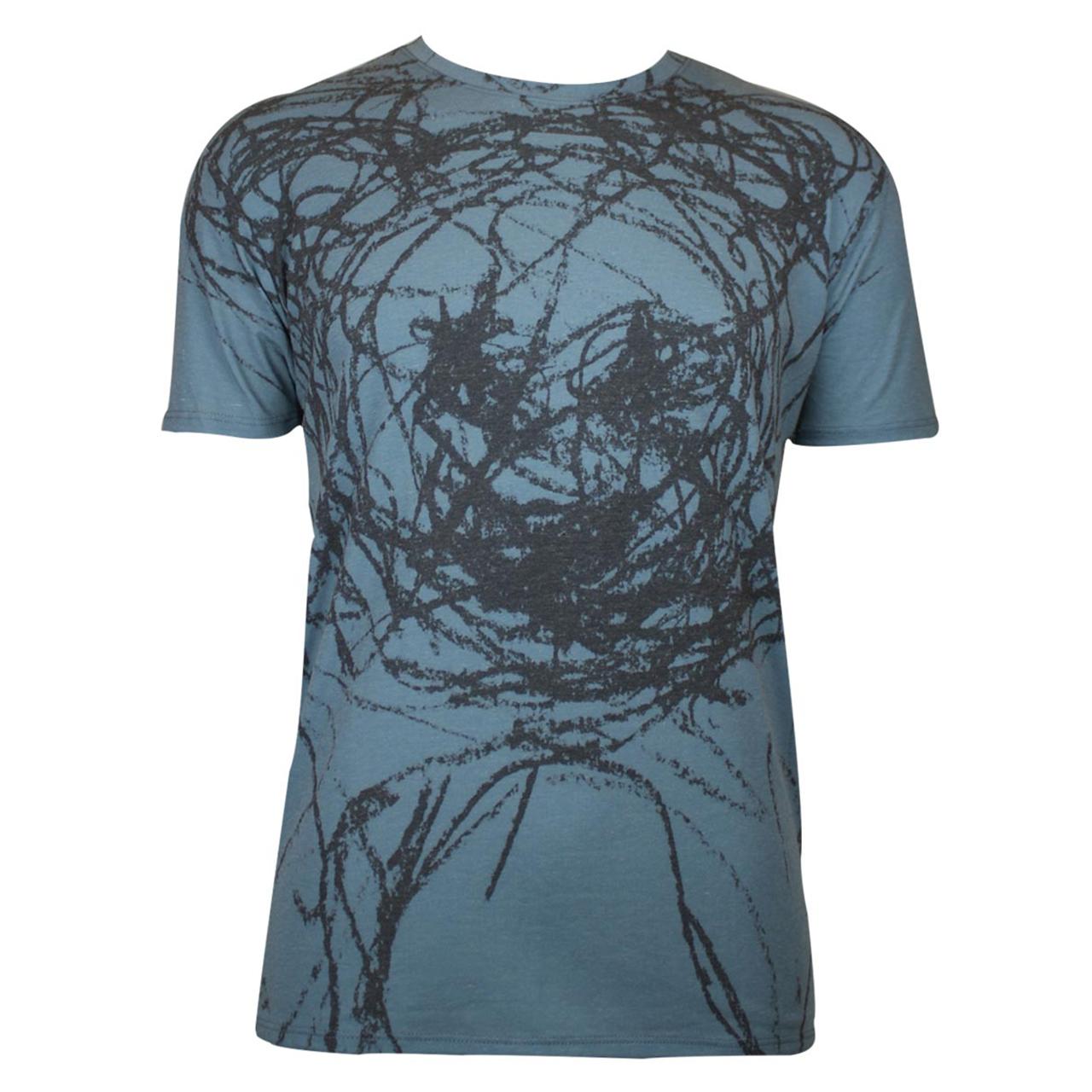 Berlin Design T-Shirt Alloverprint Bär blau