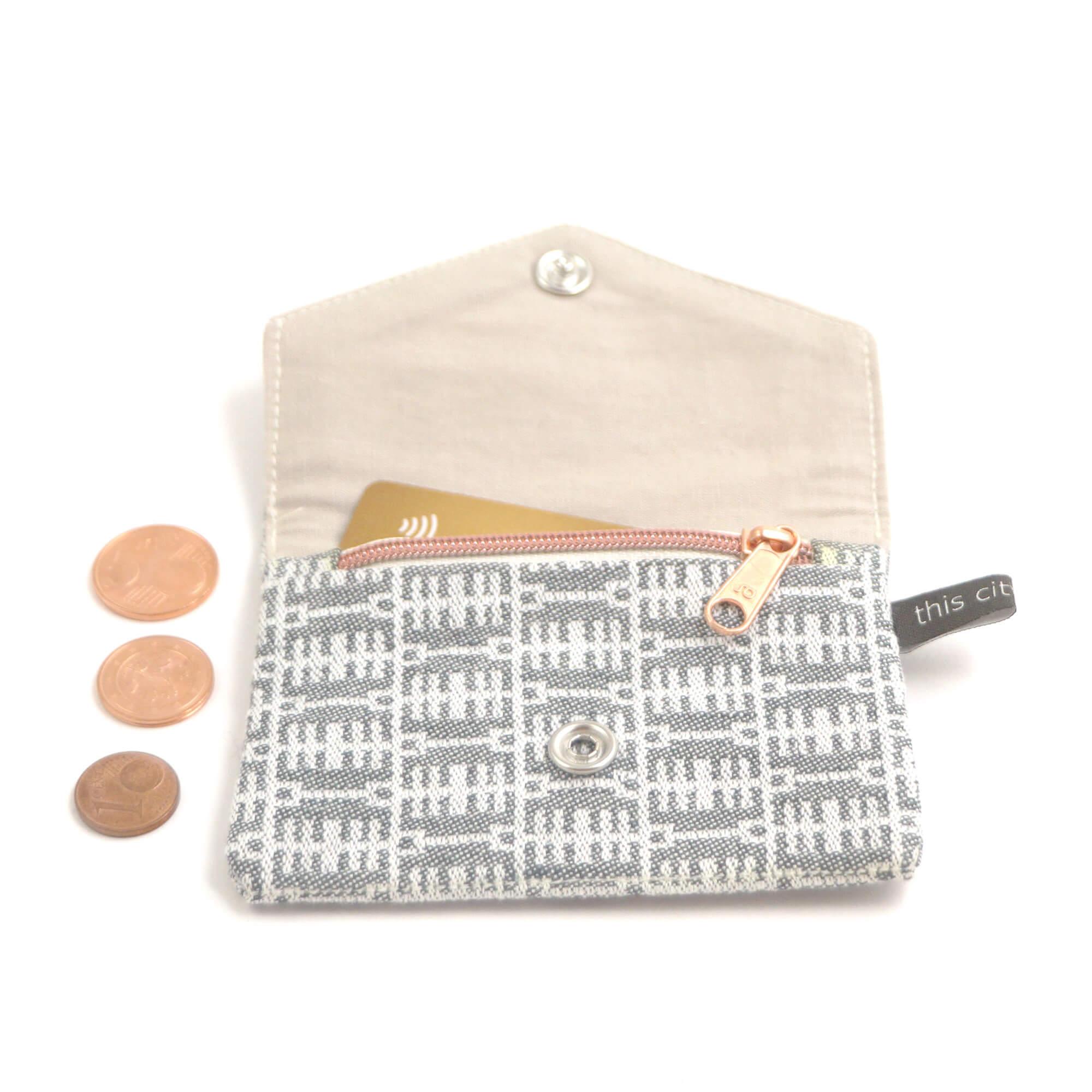 Kleine Geldbörse mit Reißverschluss Tasche BT sw