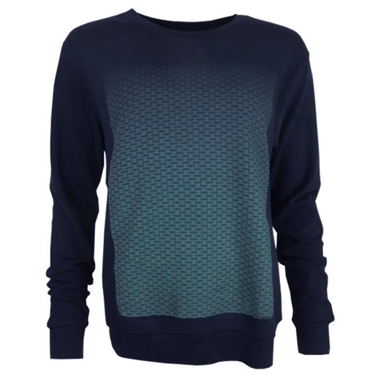 Sweatshirt Brandenburger Tor Verlauf blau/blau