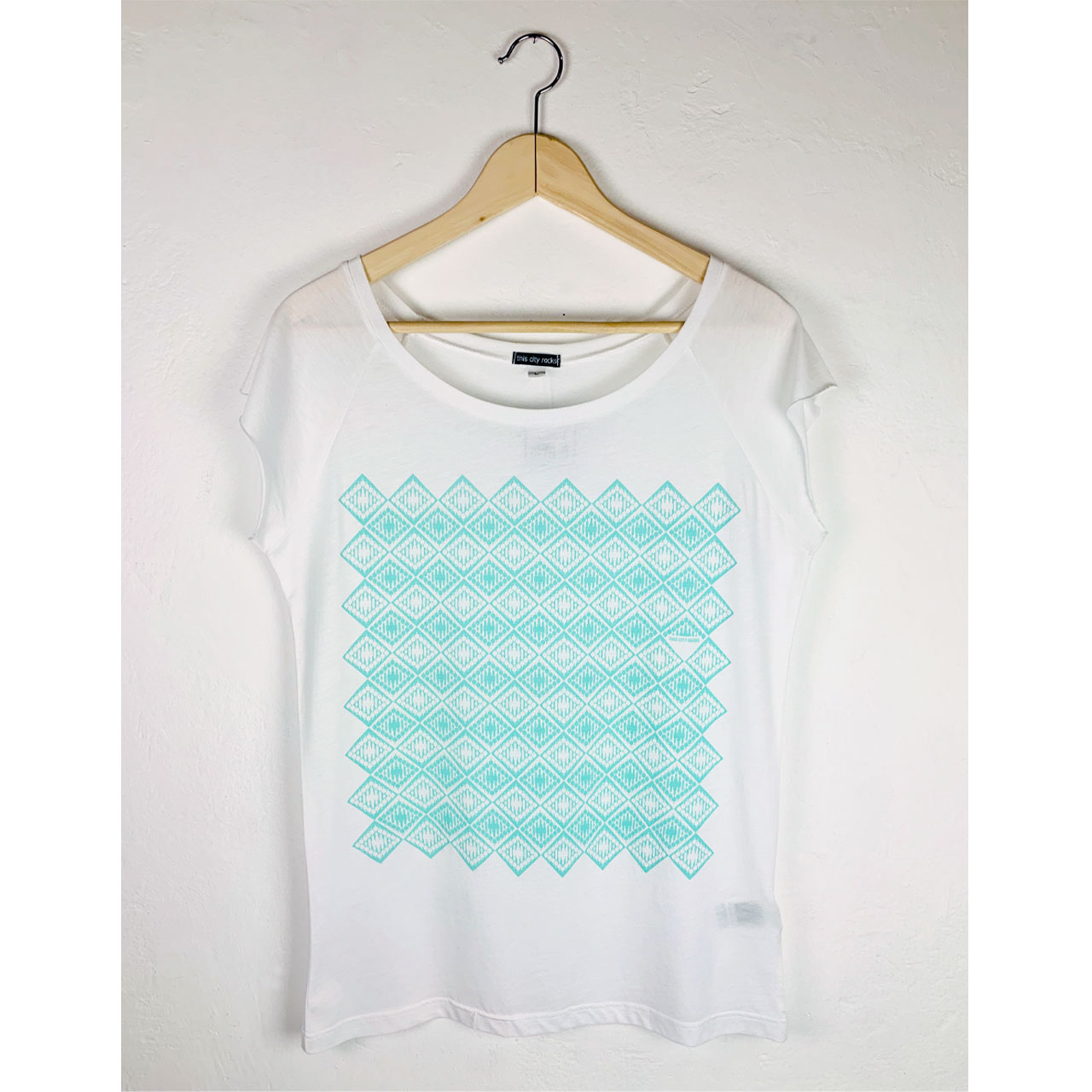 Berlin Design T-Shirt Fernsehturm mint