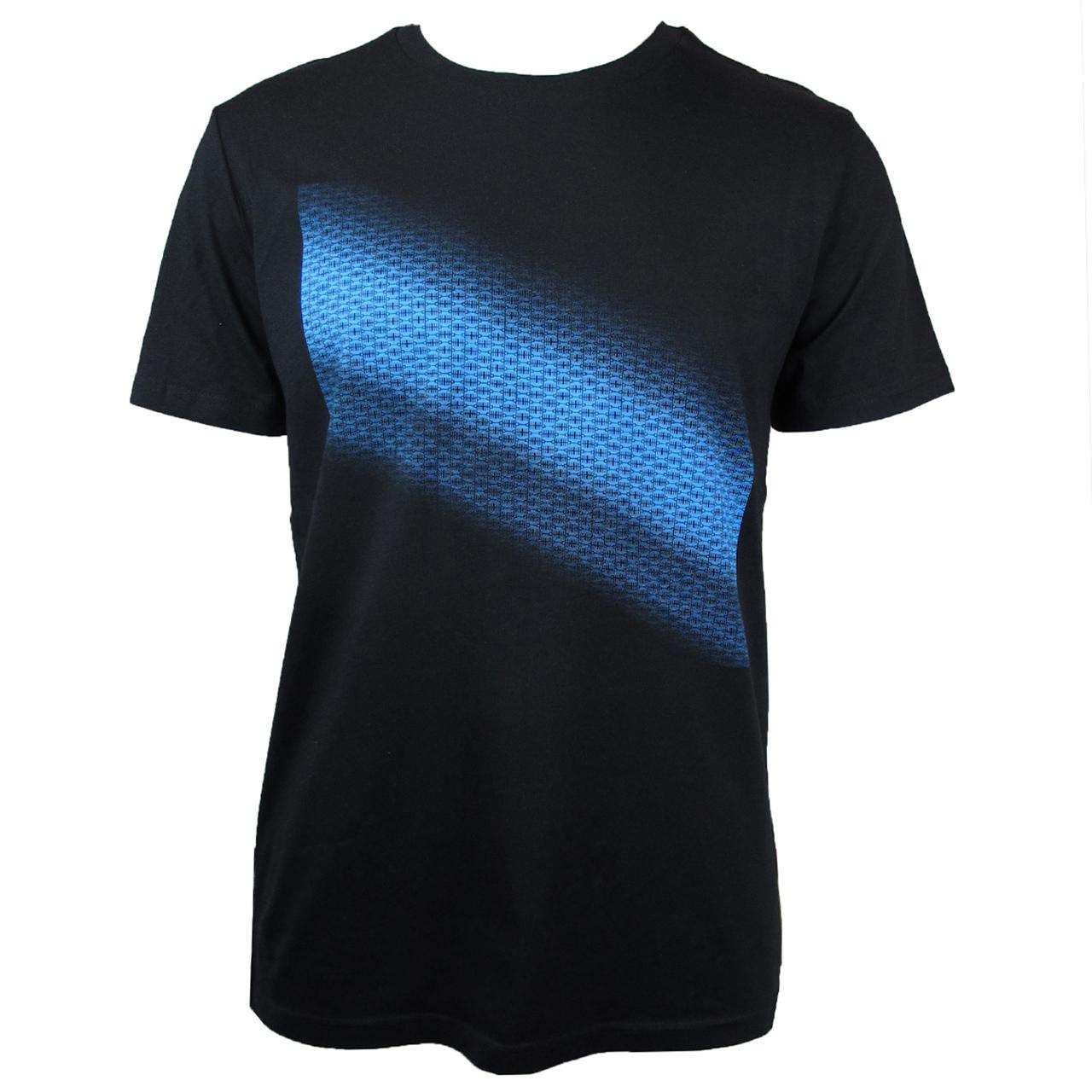 Berlin Design T-Shirt Farbverlauf schwarz/blau