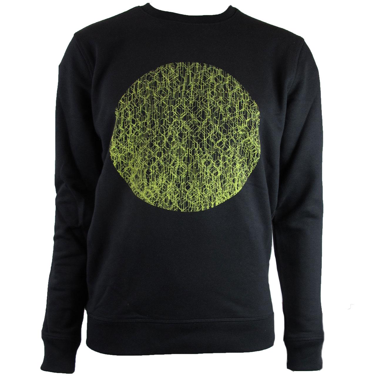 Berlin Design Sweatshirt Fernsehturm Kreise sw/gelb