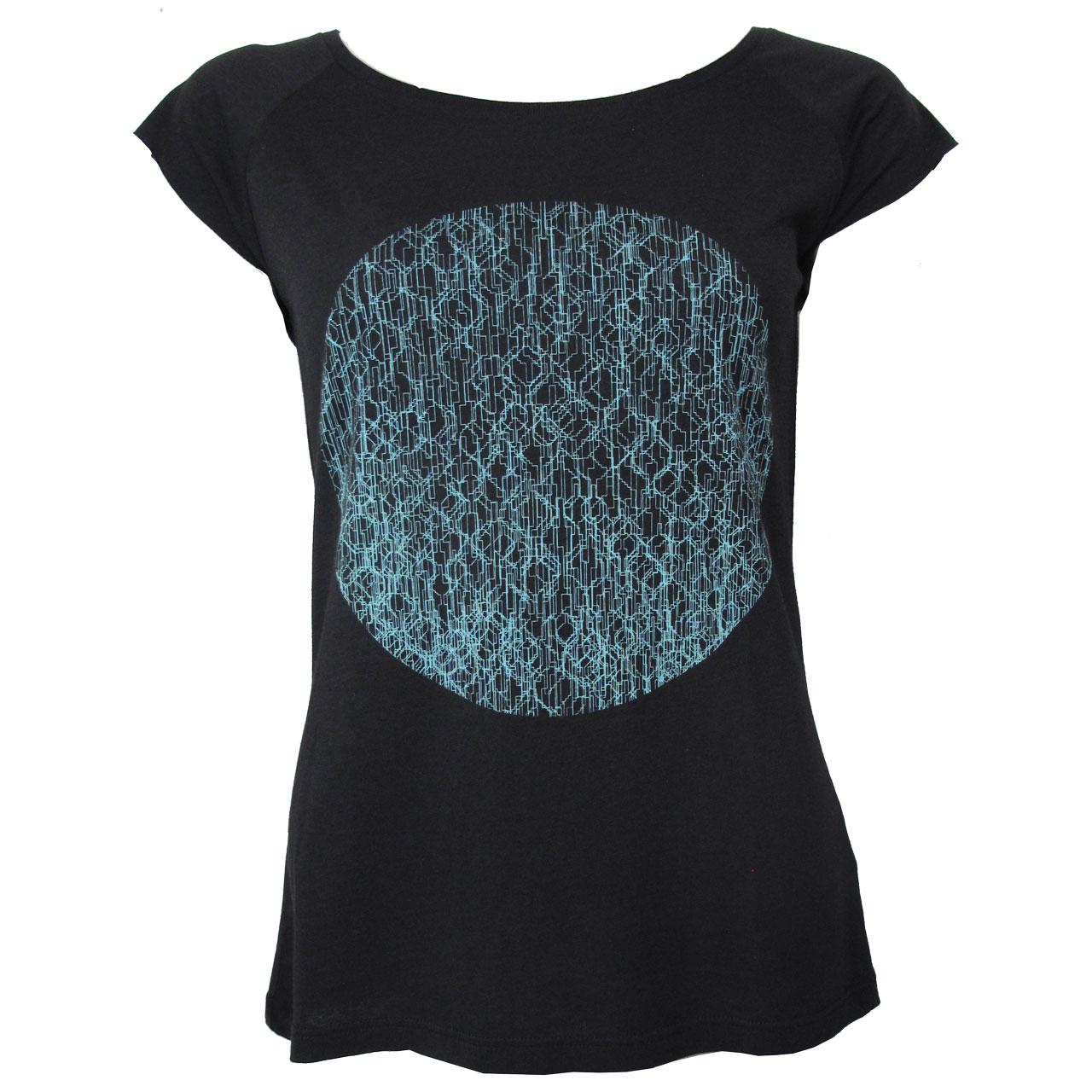 Berlin T-Shirt Fernsehturm Kreis girls sw/blau