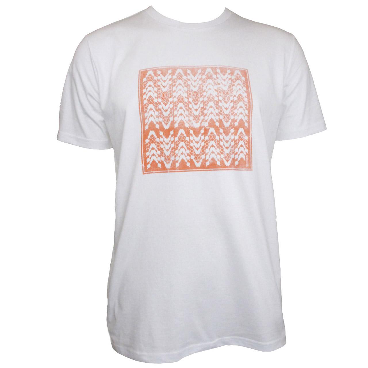 Berlin T-Shirt Quadrat weiß/rot