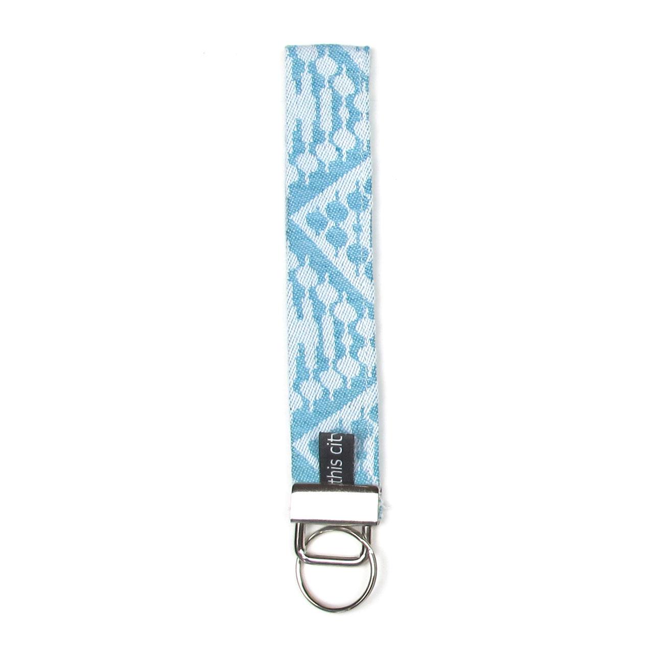 Schlüsselanhänger mit Schlaufe mint/silber