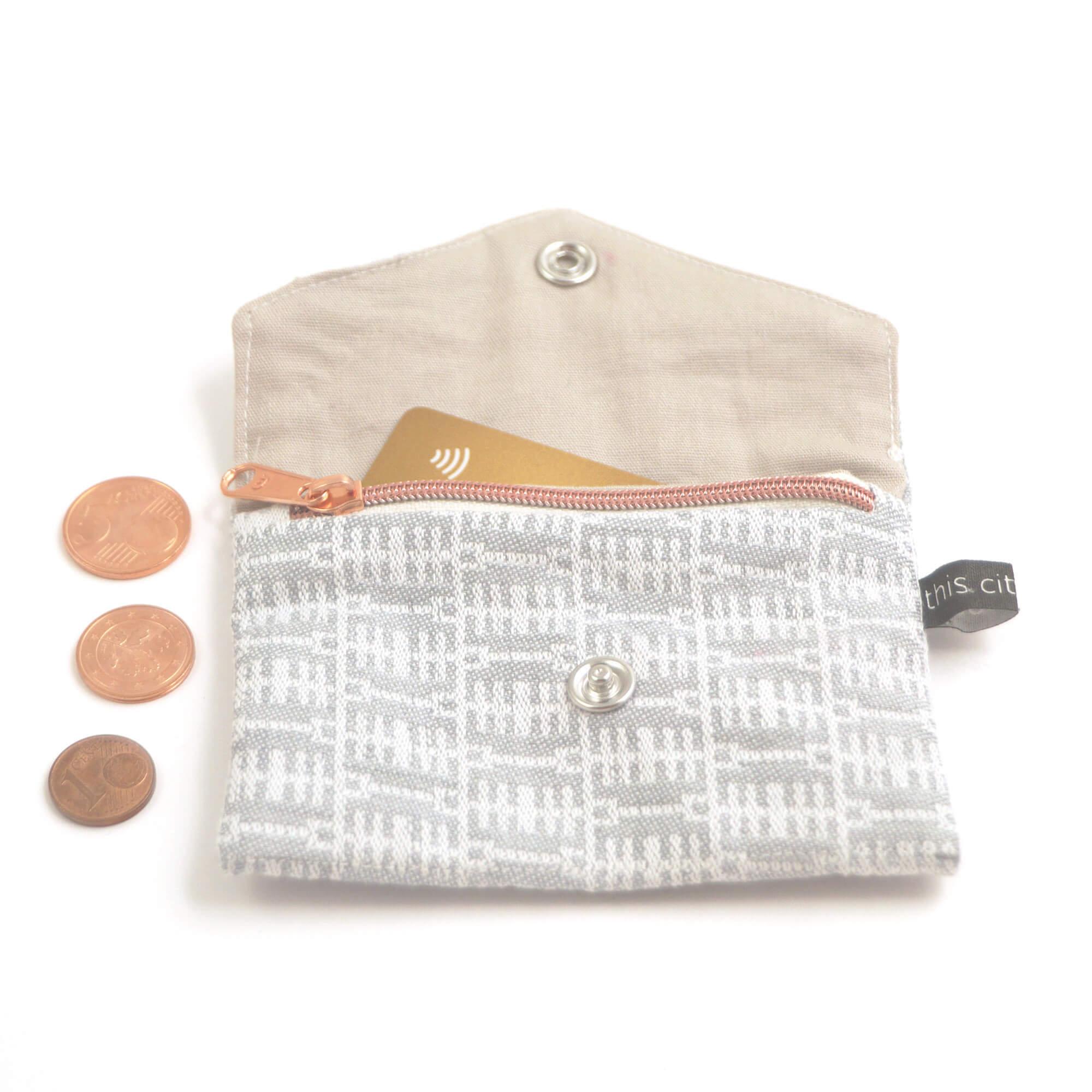 Kleine Geldbörse mit Reißverschluss Tasche BT h-grau