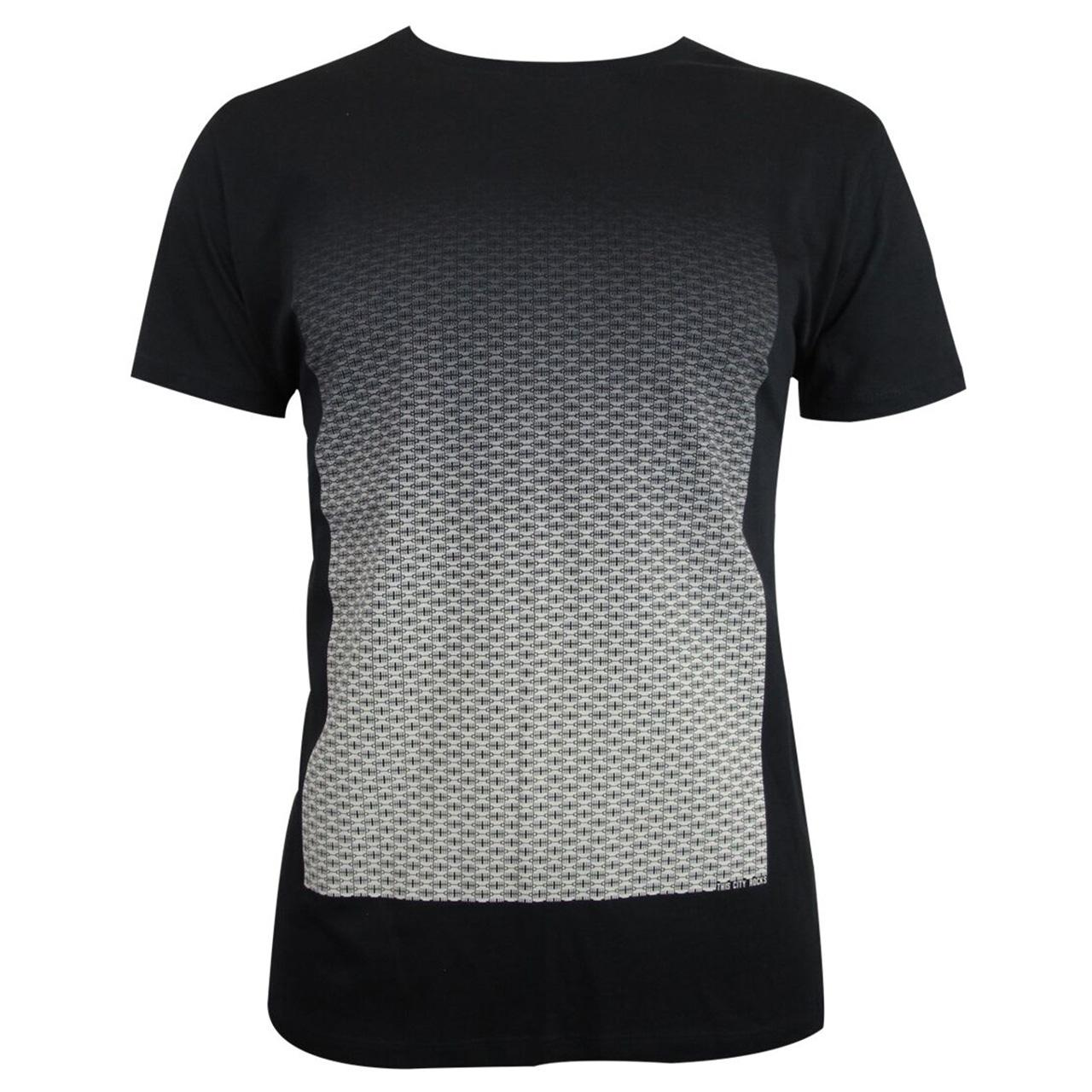 Berlin Design T-Shirt Torverlauf men schwarz/creme