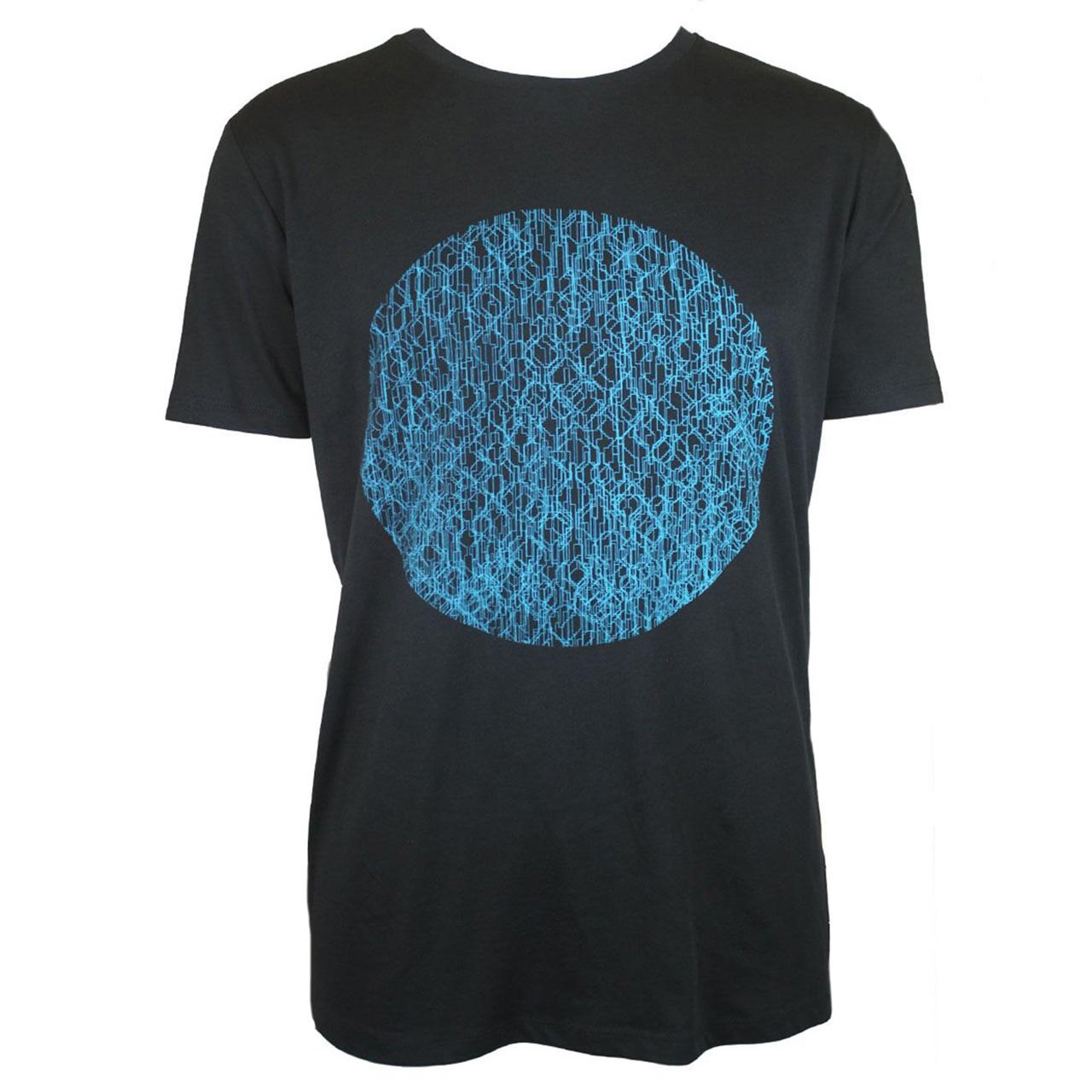 Berlin Design T-Shirt Fernsehturm Kreis men schwarz/blau
