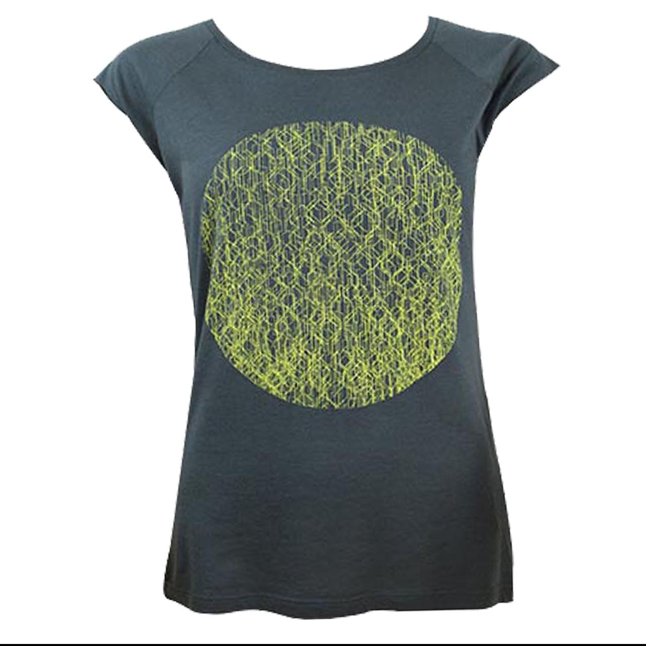 Berlin T-Shirt Fernsehturm Kreis girls grau/gelb