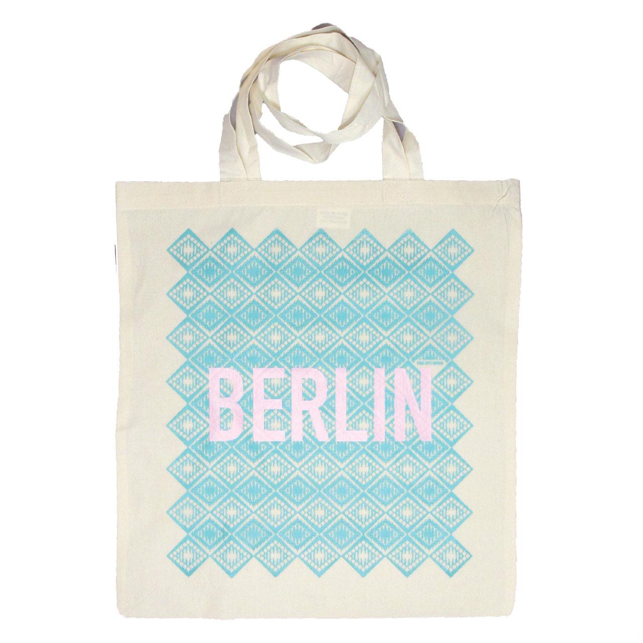 Berlin Jutebeutel Fernsehturm mint/lila