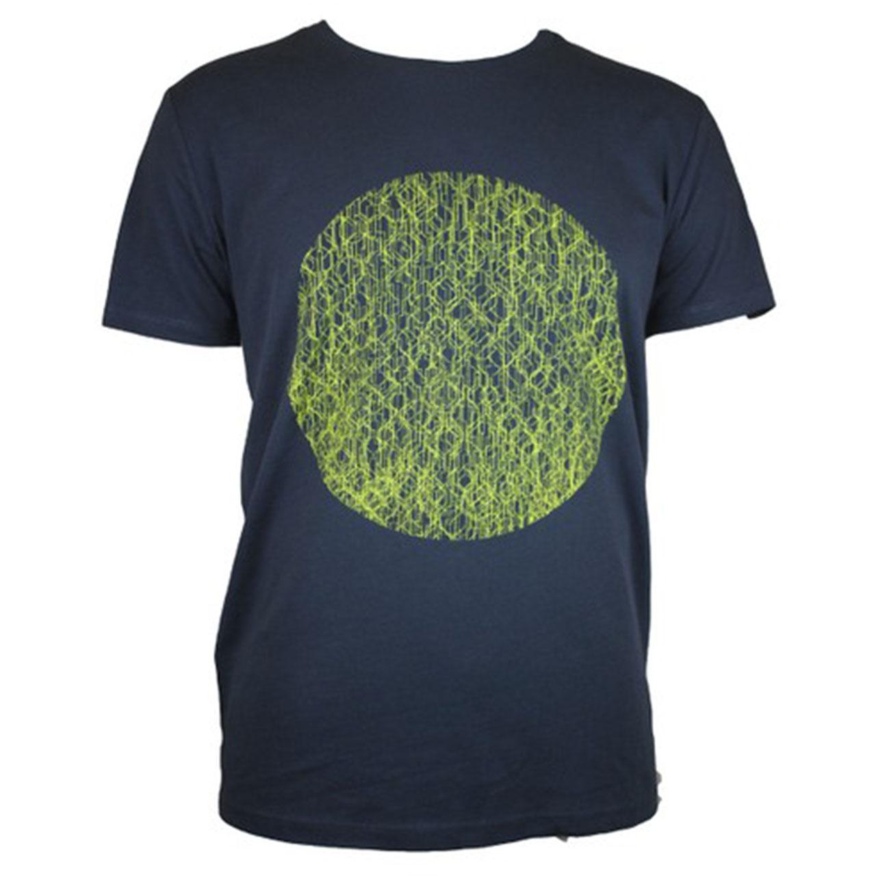 T-Shirt Fernsehturm Kreis men grau/gelb