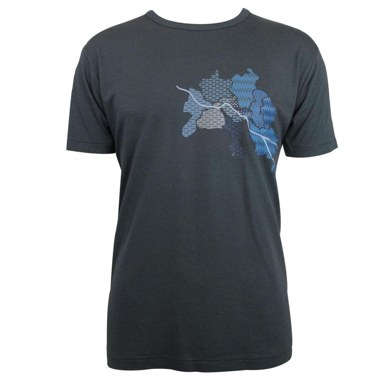 T-Shirt Berlin Map grau