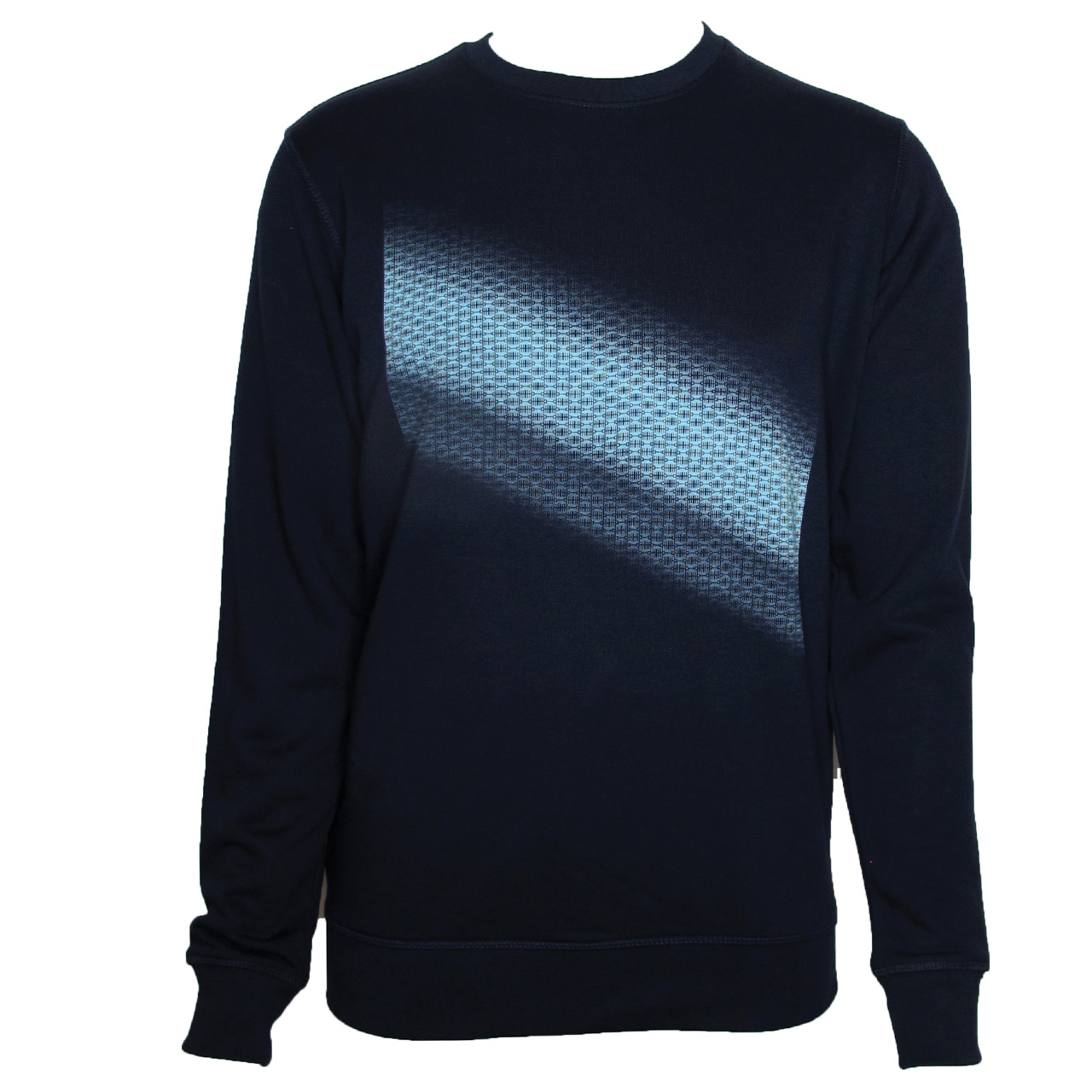 Berlin Sweatshirt Brandenburger Tor Diagonal schwarz/blau