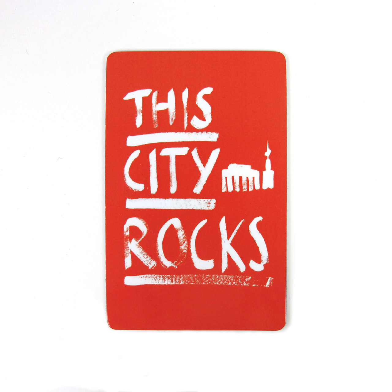 Berlinmagnet This City Rocks groß rot