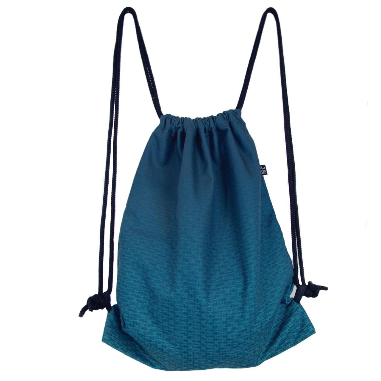 Rucksack/Gymbag Allover Brandenburger Tor blau mint