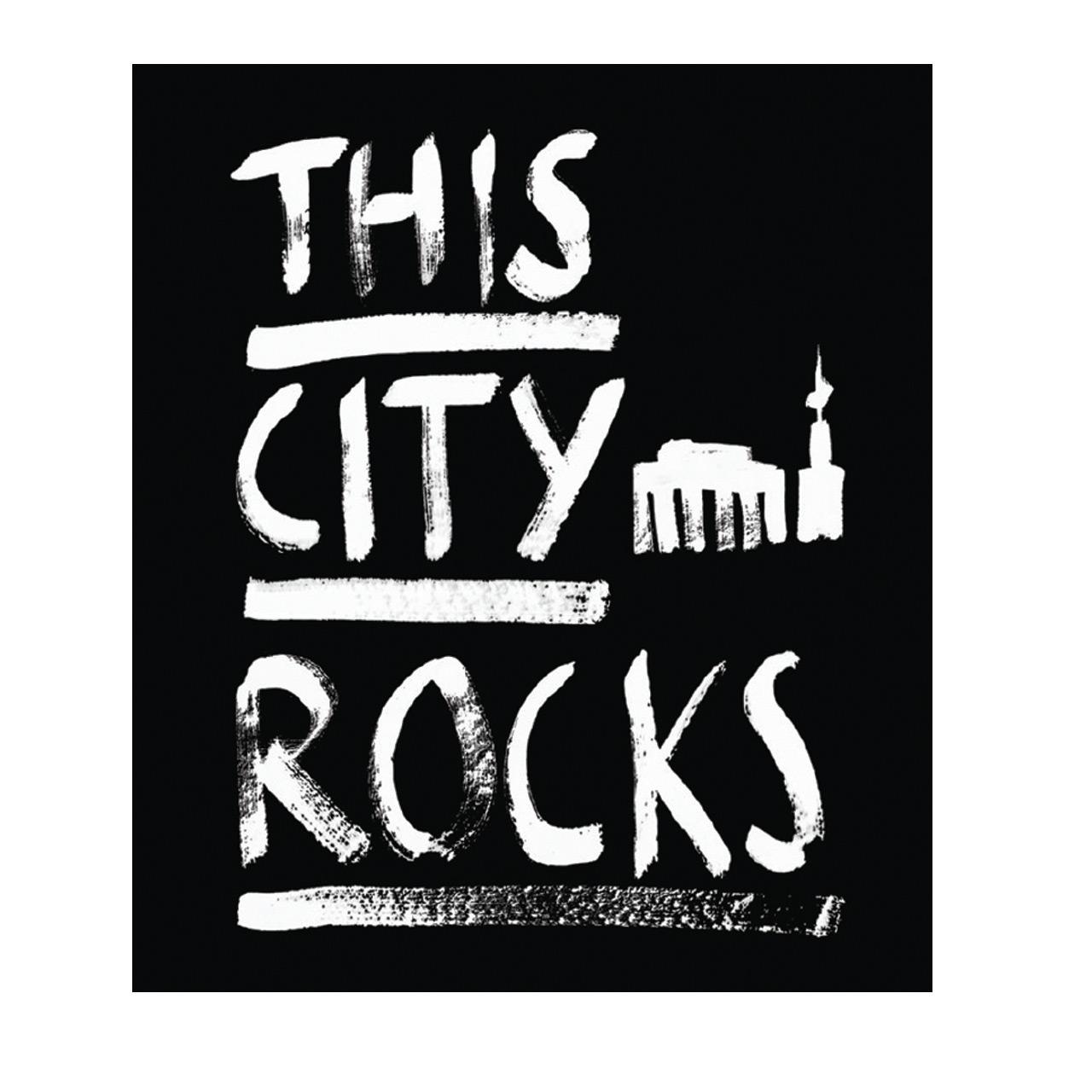 Berlin T-Shirt Schrift men schwarz/weiß