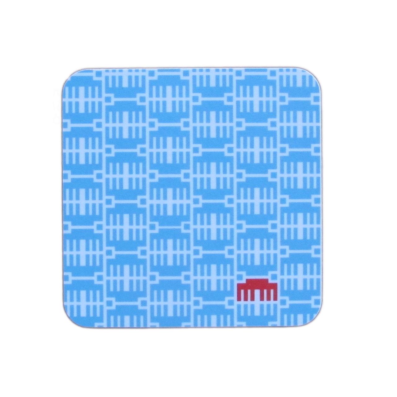 1x Berlin Coaster / Untersetzer Brandenburger Tor blau