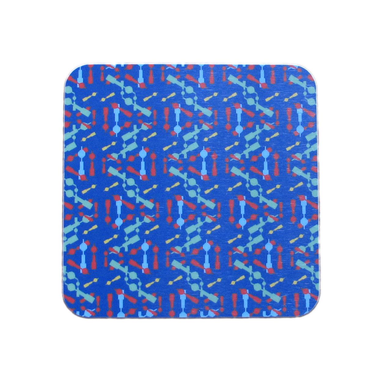 1x Berlin Coaster / Untersetzer Fernsehturm Konfetti blau