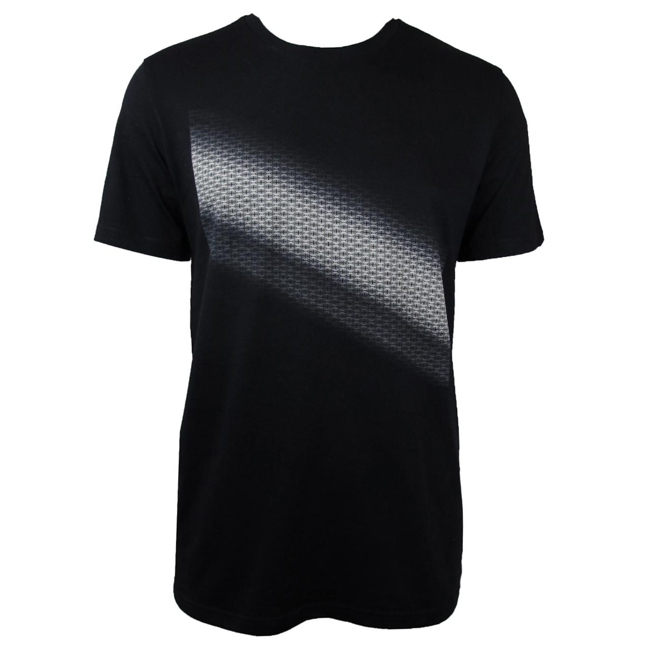 T-Shirt Diagonal schwarz/creme