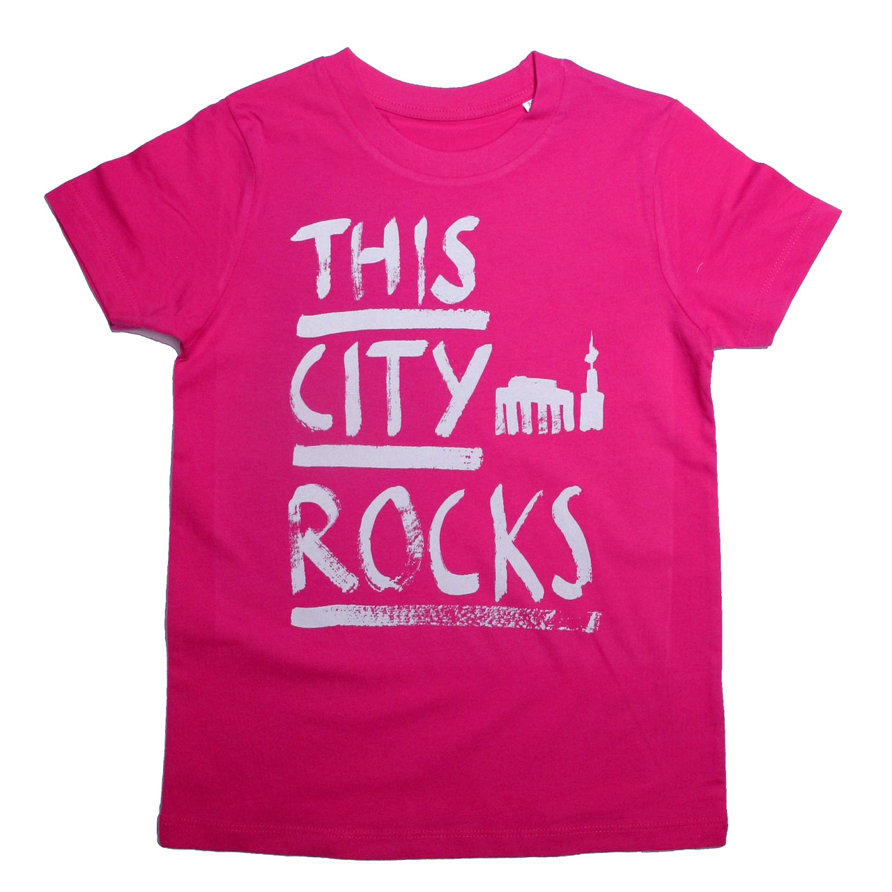 Berlin T-Shirt THIS CITY ROCKS pink/creme