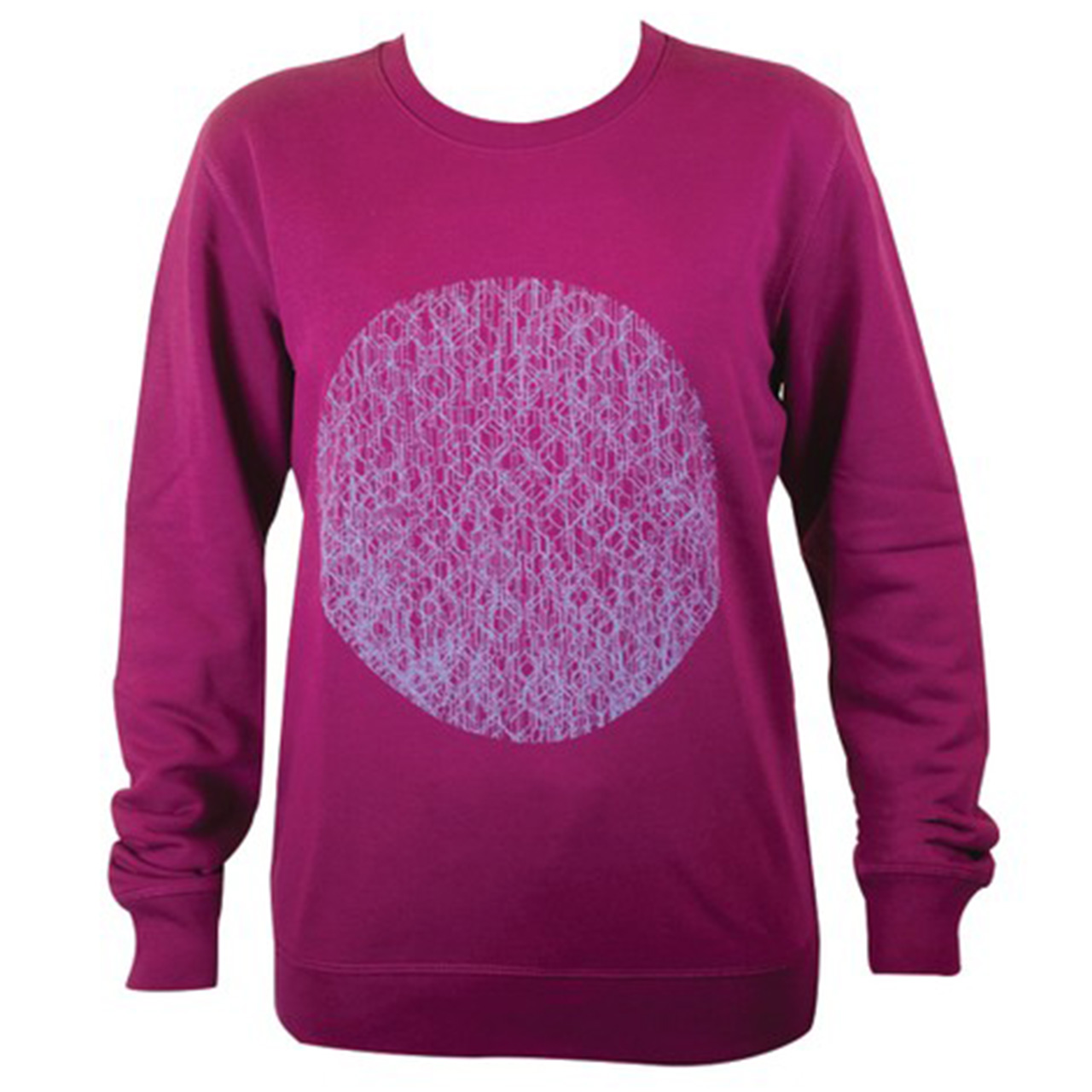 Sweatshirt Fernsehturm Kreise lila/lila