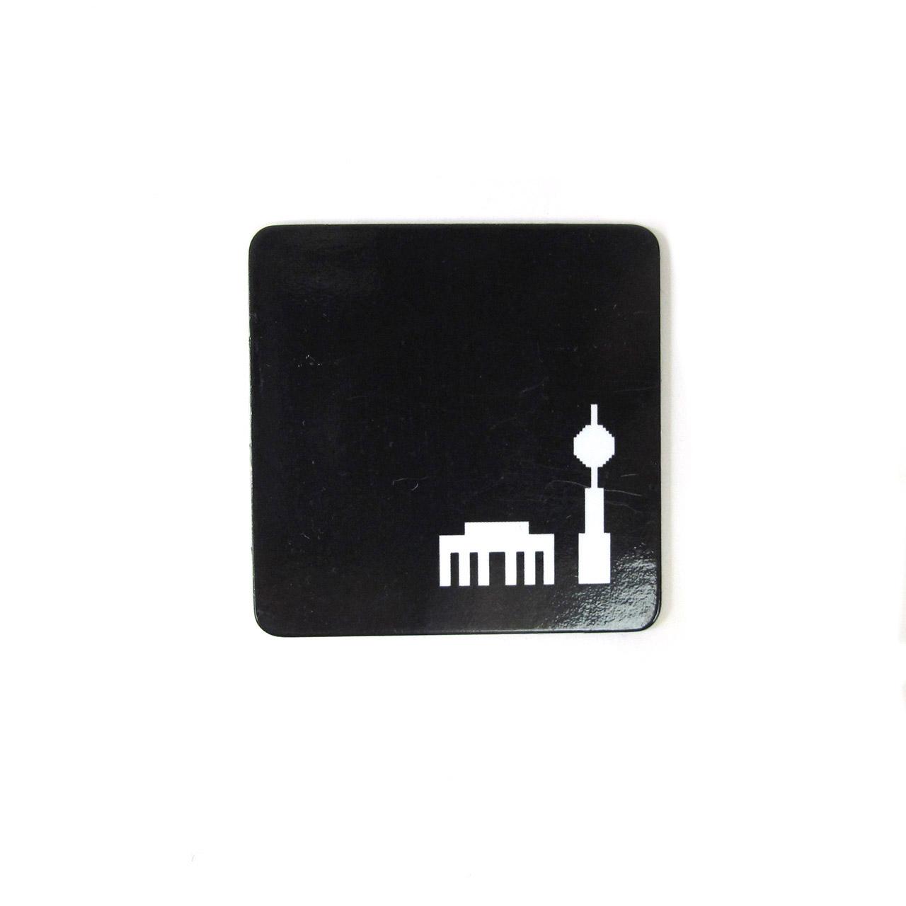 Berlinmagnet Tor + Turm schwarz