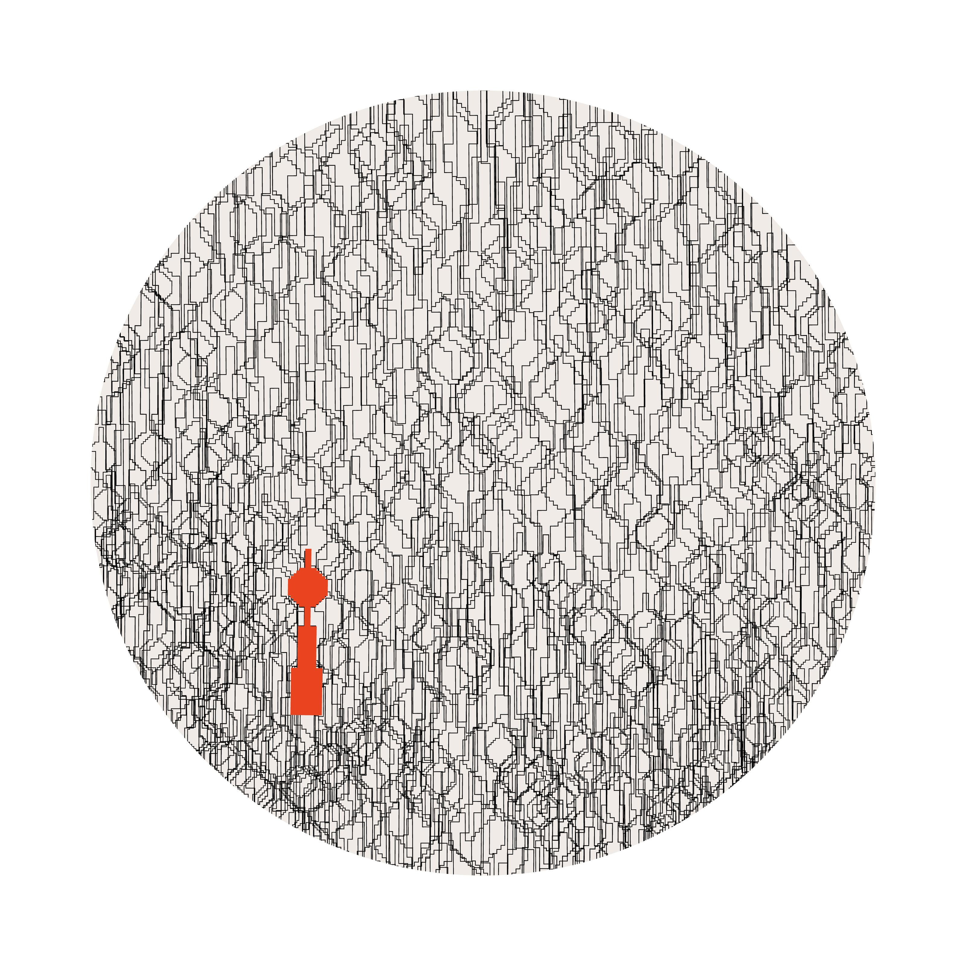 Berlin Design Sweatshirt Fernsehturm Kreis grau/blau