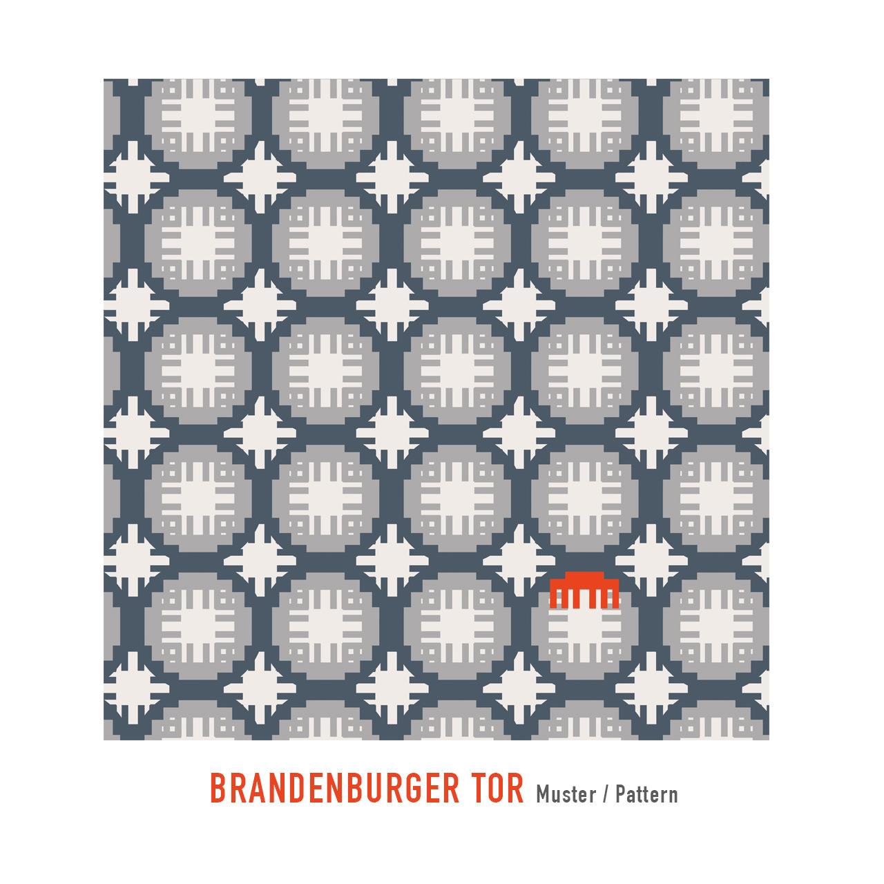 Geldbeutel Samt Brandenburger Tor rot