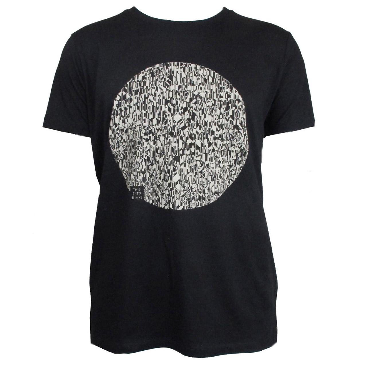 Berlin T-Shirt Fernsehturm Kreis men schwarz/weiß