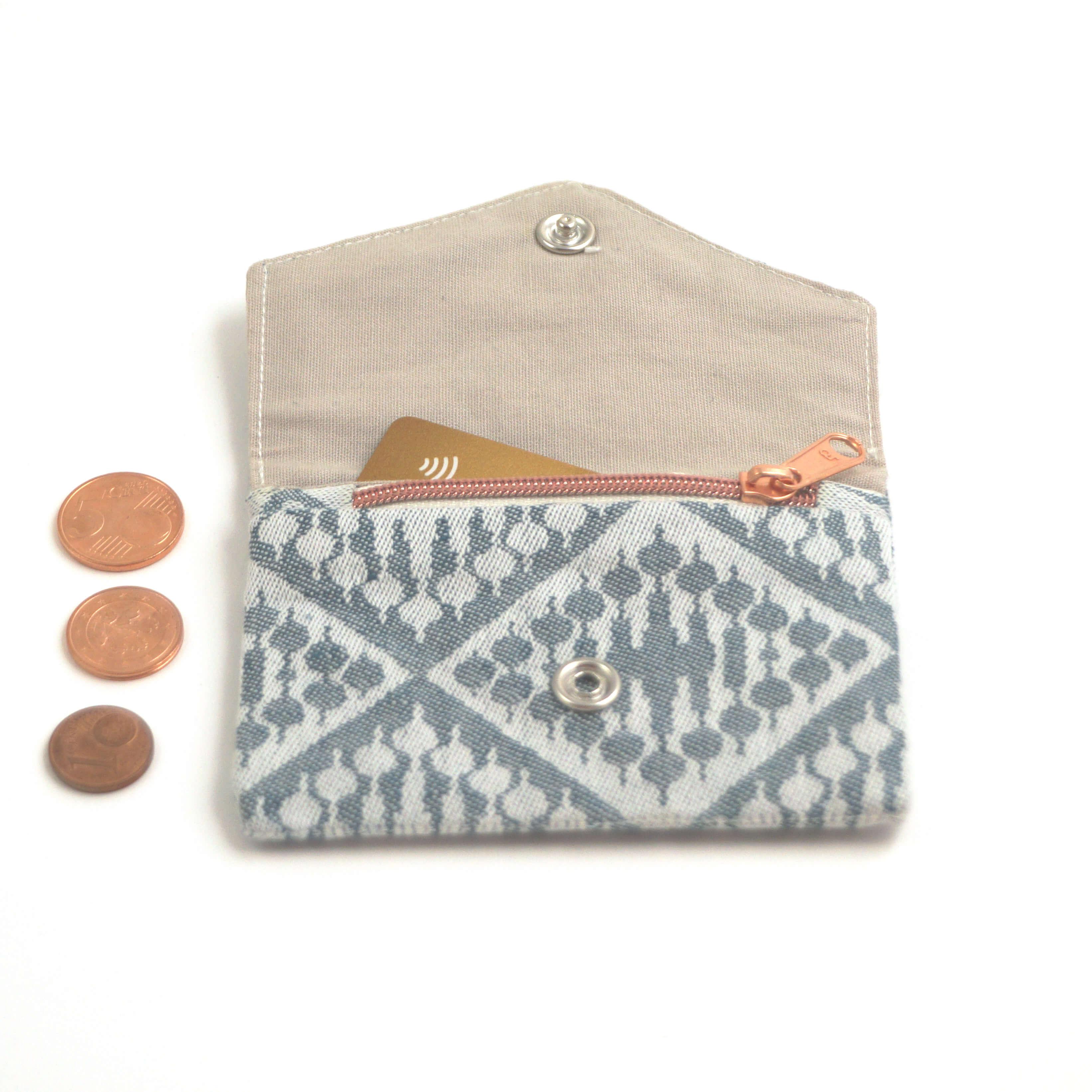 Kleine Geldbörse mit Reißverschluss Tasche FT petrol