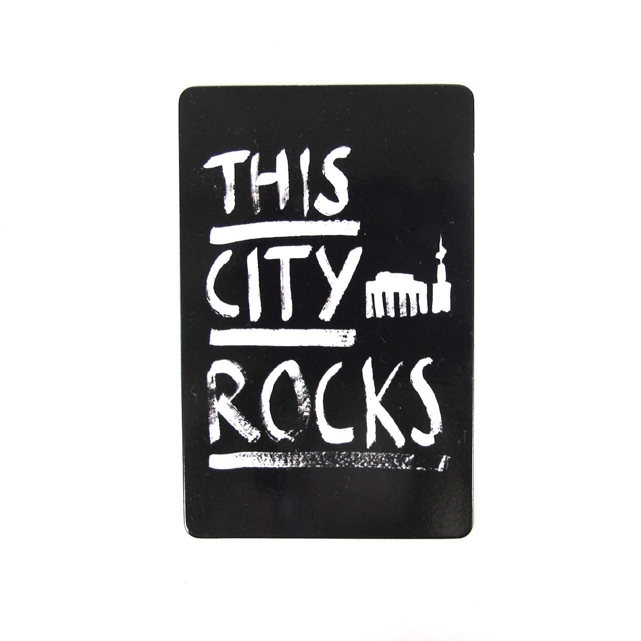 Berlinmagnet This City Rocks groß schwarz