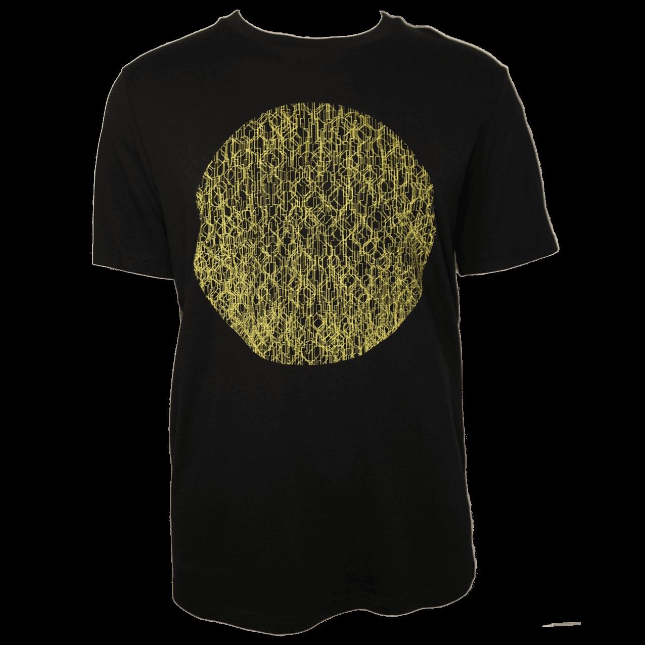 Berlin T-Shirt Fernsehturm Kreis Schwarz/gelb