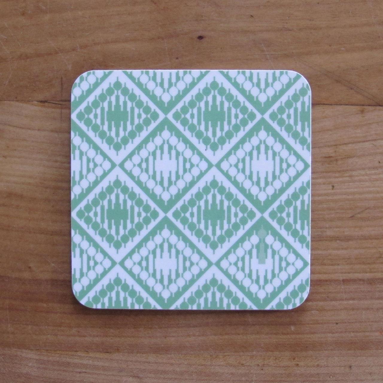 1x Coaster / Untersetzer Fernsehturm grün
