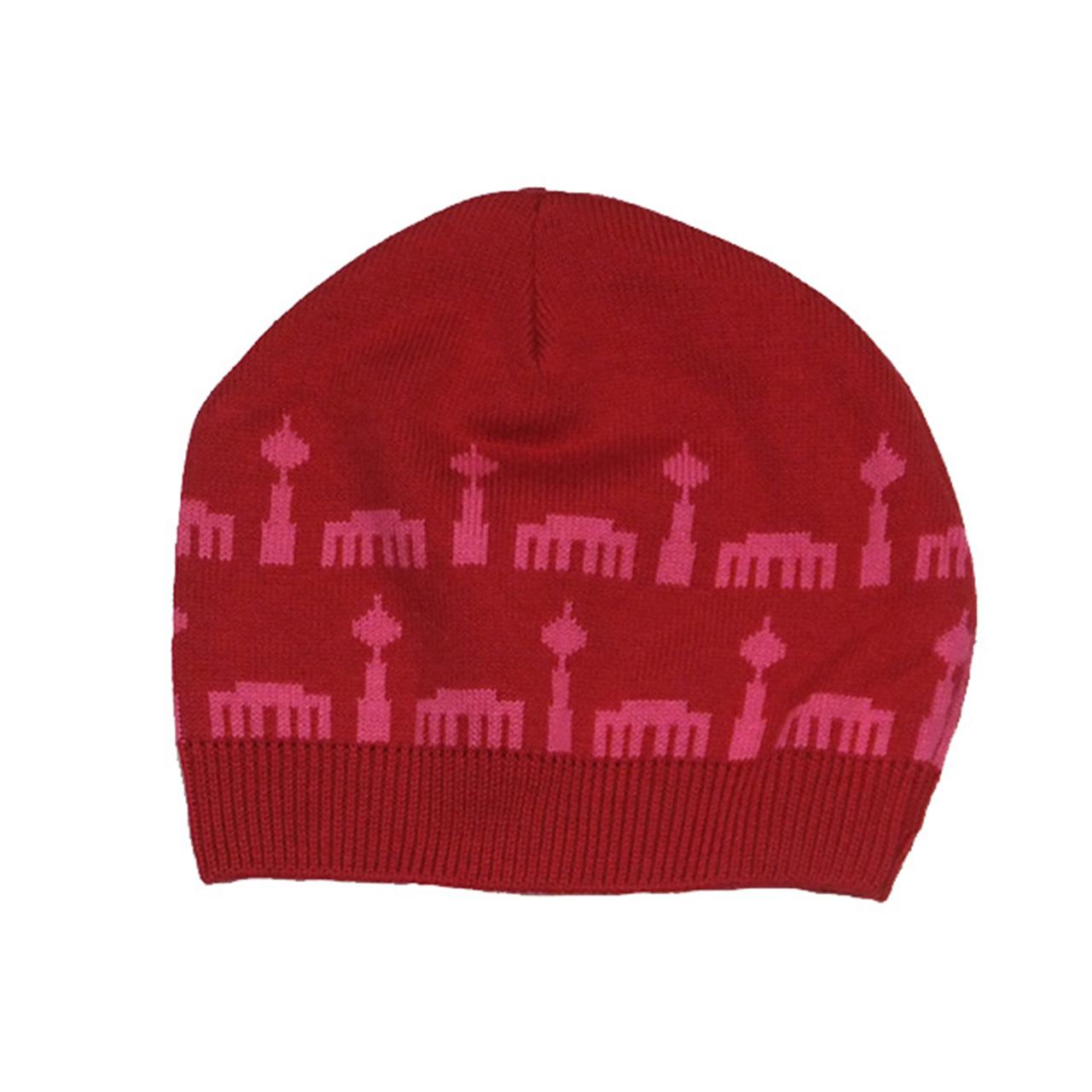 Kindermütze Berliner Design rot/pink