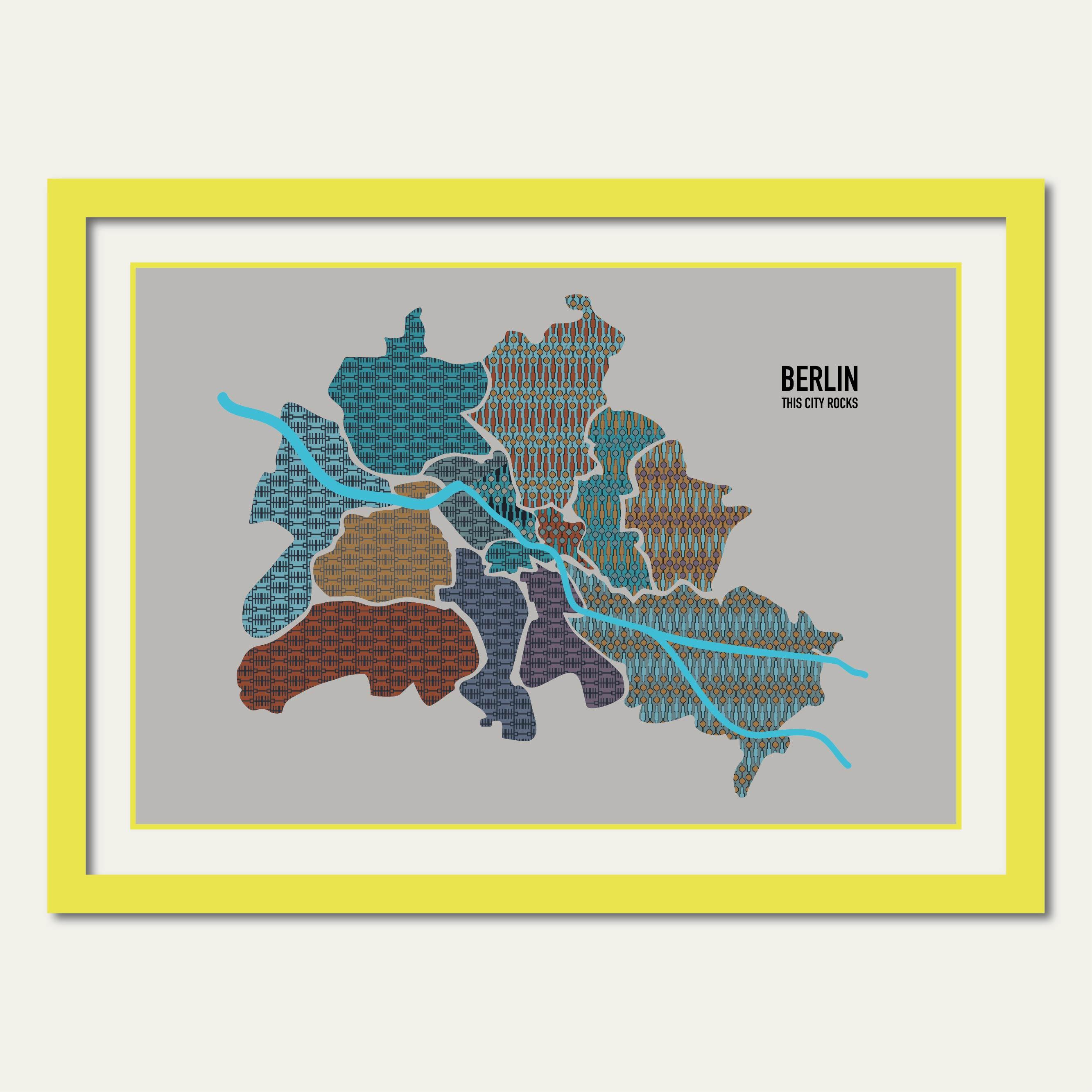 Berlin Poster Map