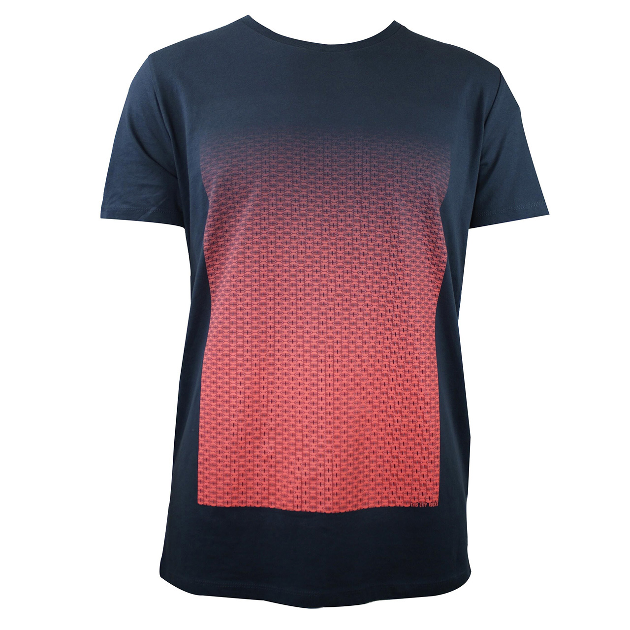 Berlin Design T-Shirt Torverlauf men grau/neonorange