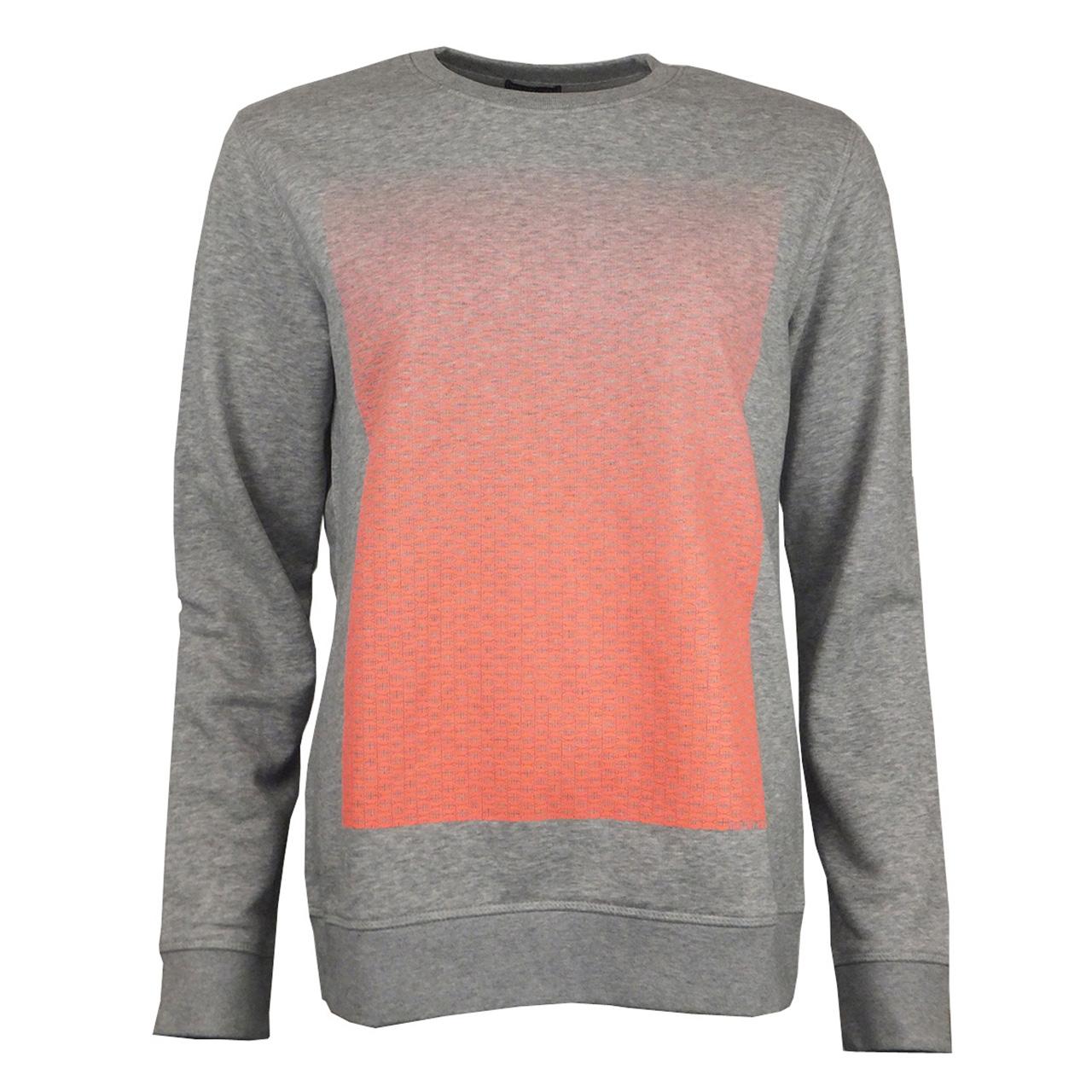 Sweatshirt Brandenburger Tor Verlauf hell-grau/neonorange