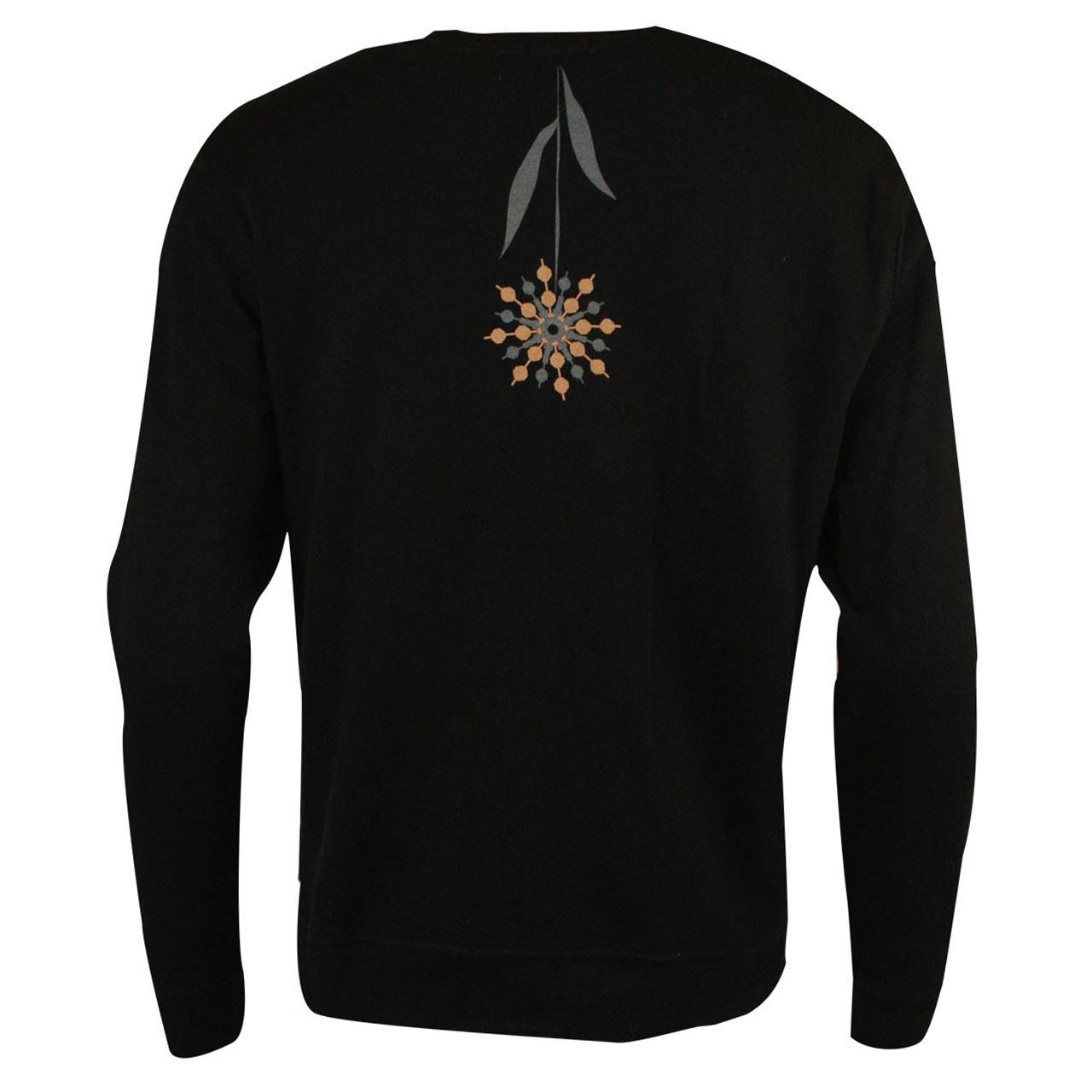 Sweatshirt Fernsehturm Blumen schwarz