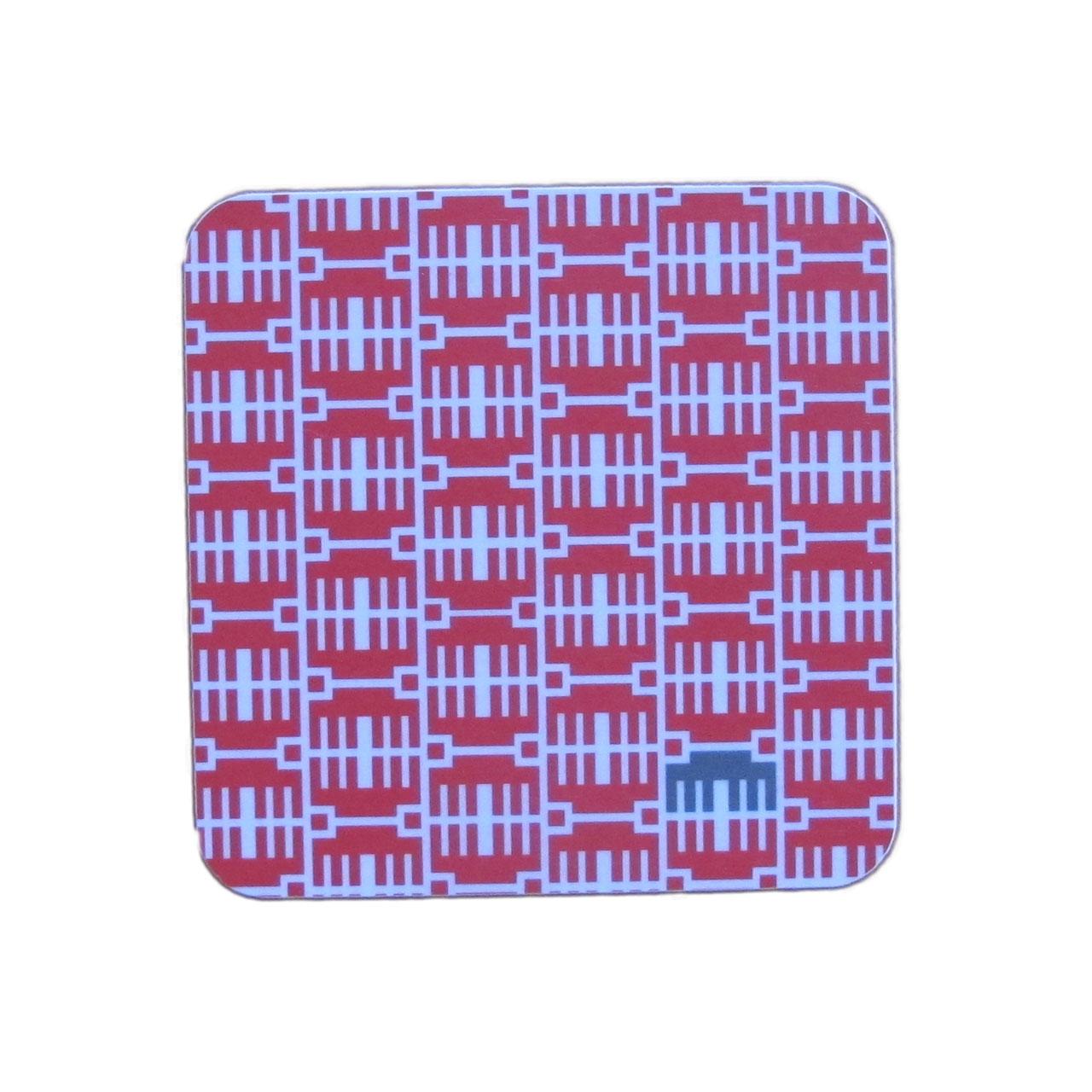 1x Coaster / Untersetzer Brandenburger Tor rot