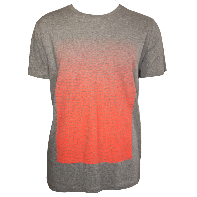 Berlin Design T-Shirt Torverlauf h-grau/neonorange